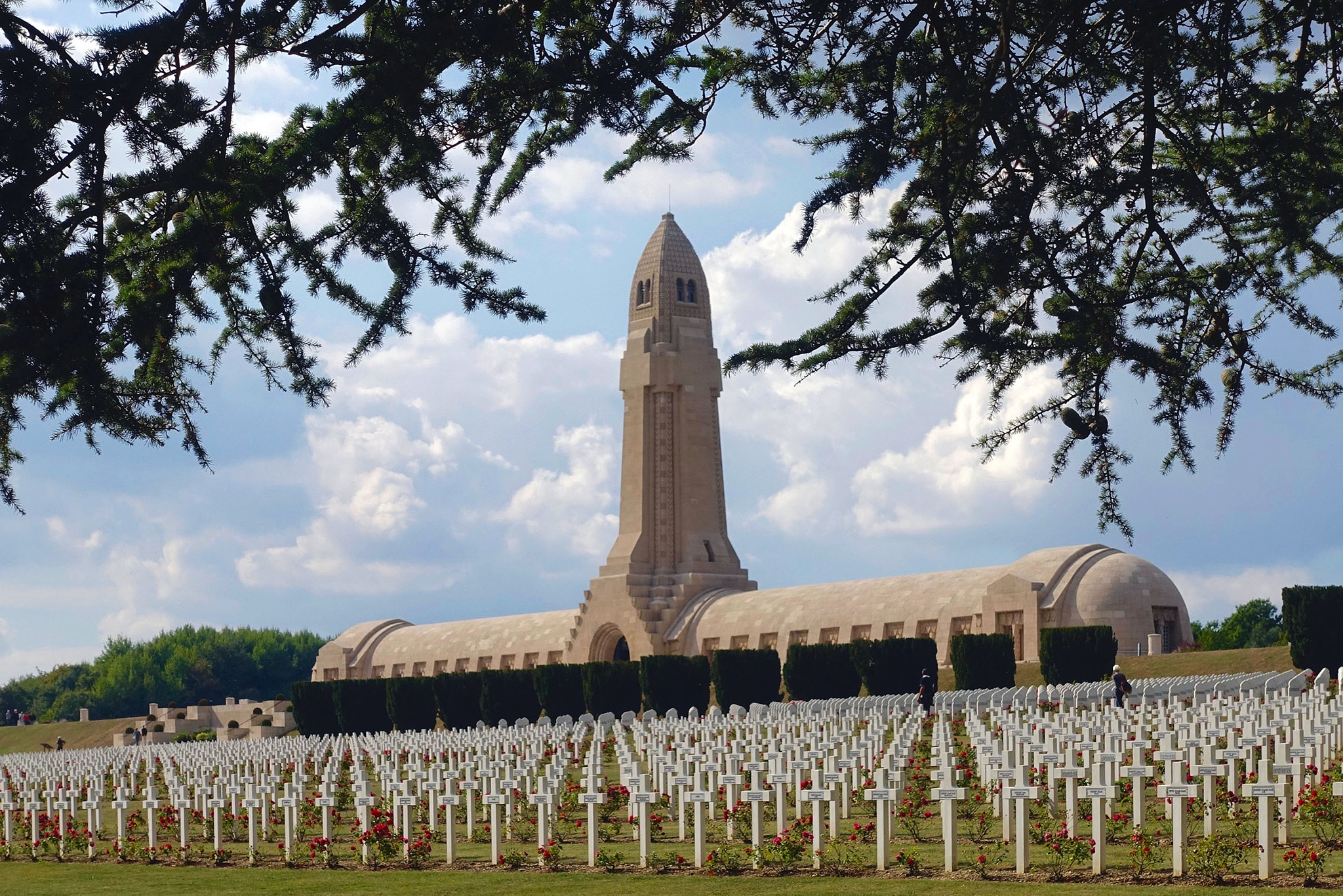 The National Gravesite at Verdun, France. by Erwin Widmer