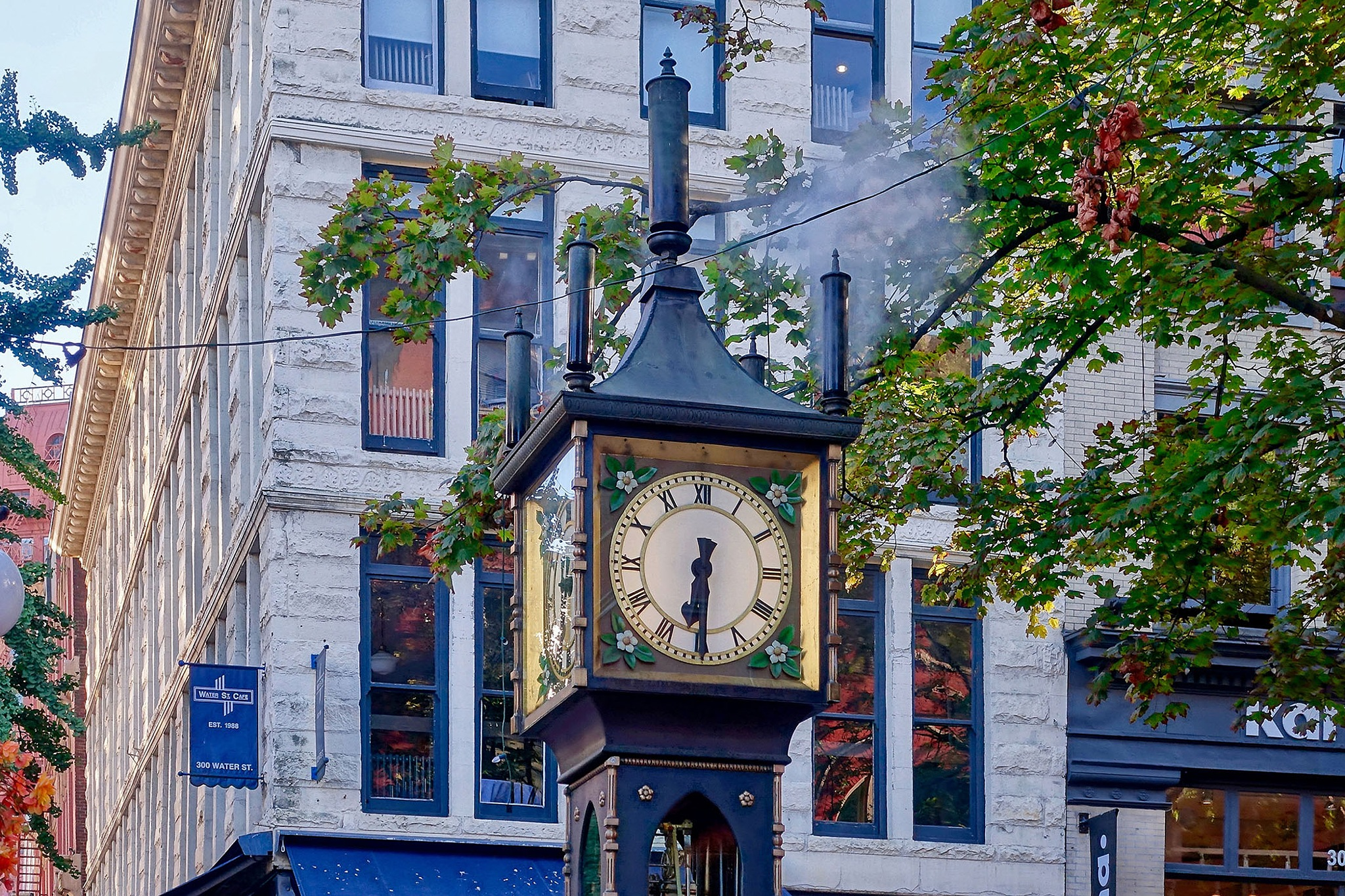 The steam clock in Vancouver in Canada. by Erwin Widmer
