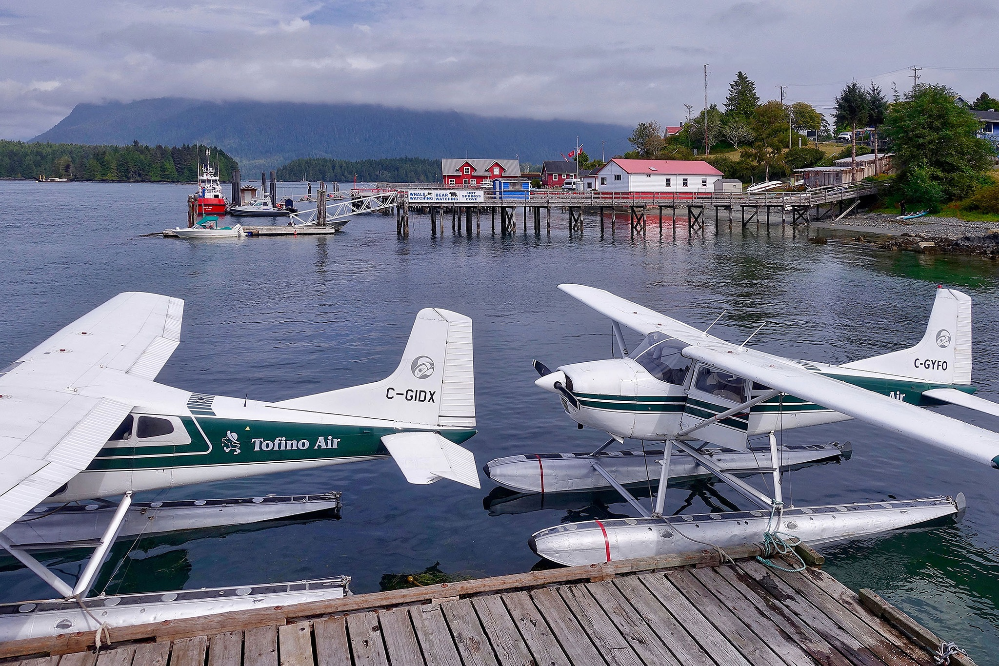 At the airport of Tofino in Canada. by Erwin Widmer