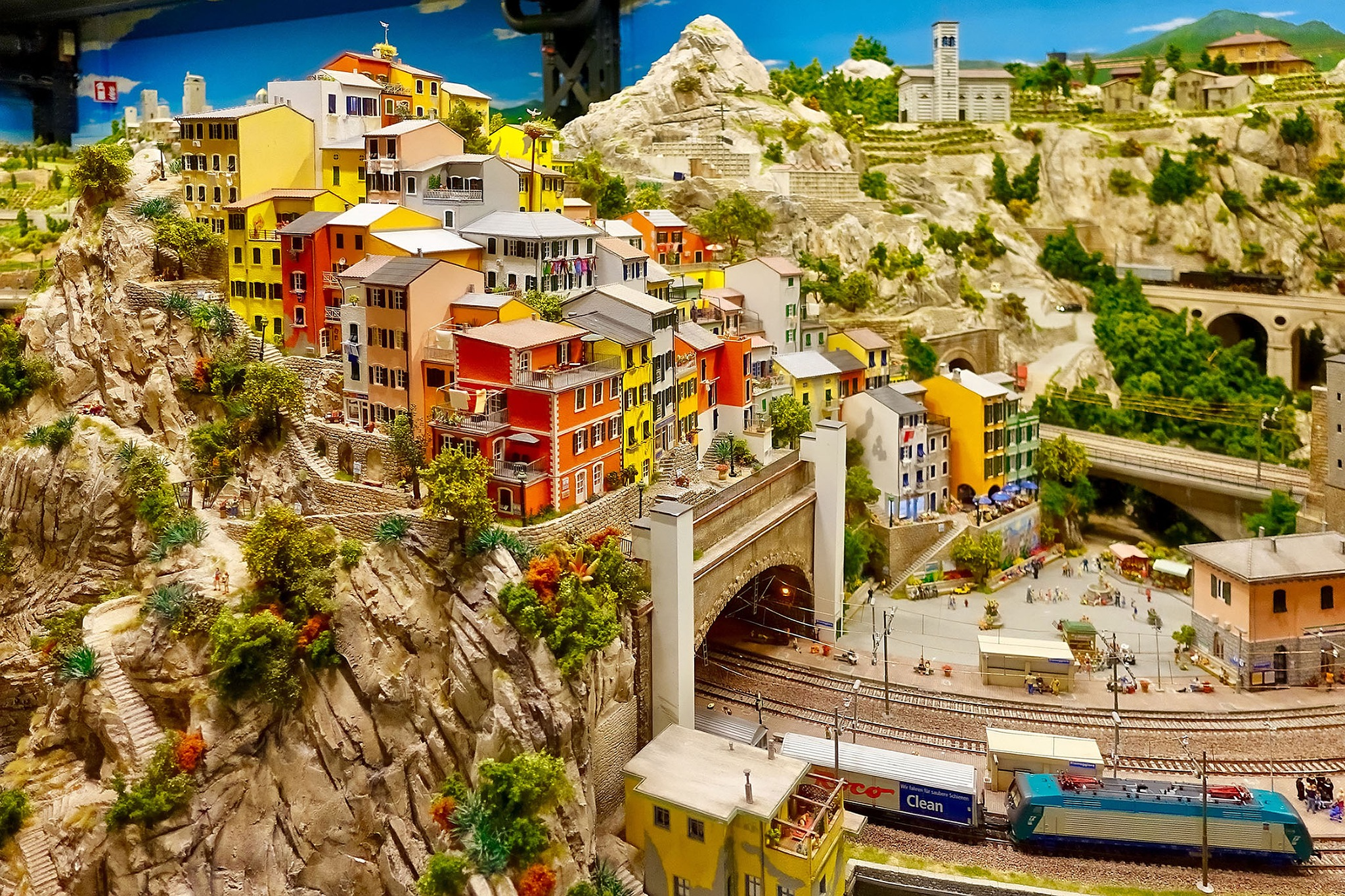 A part of the Italien section of the model railway «Miniatur Wunderland» in Hamburg, Germany. by Erwin Widmer