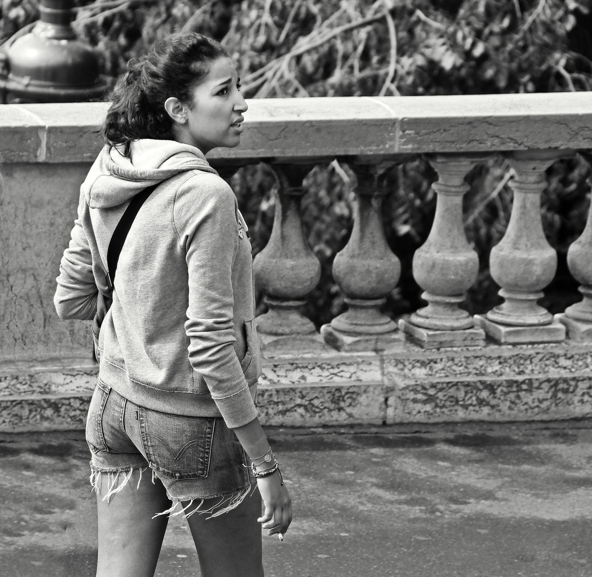 Girl at Montmartre by Сергей Юрьев