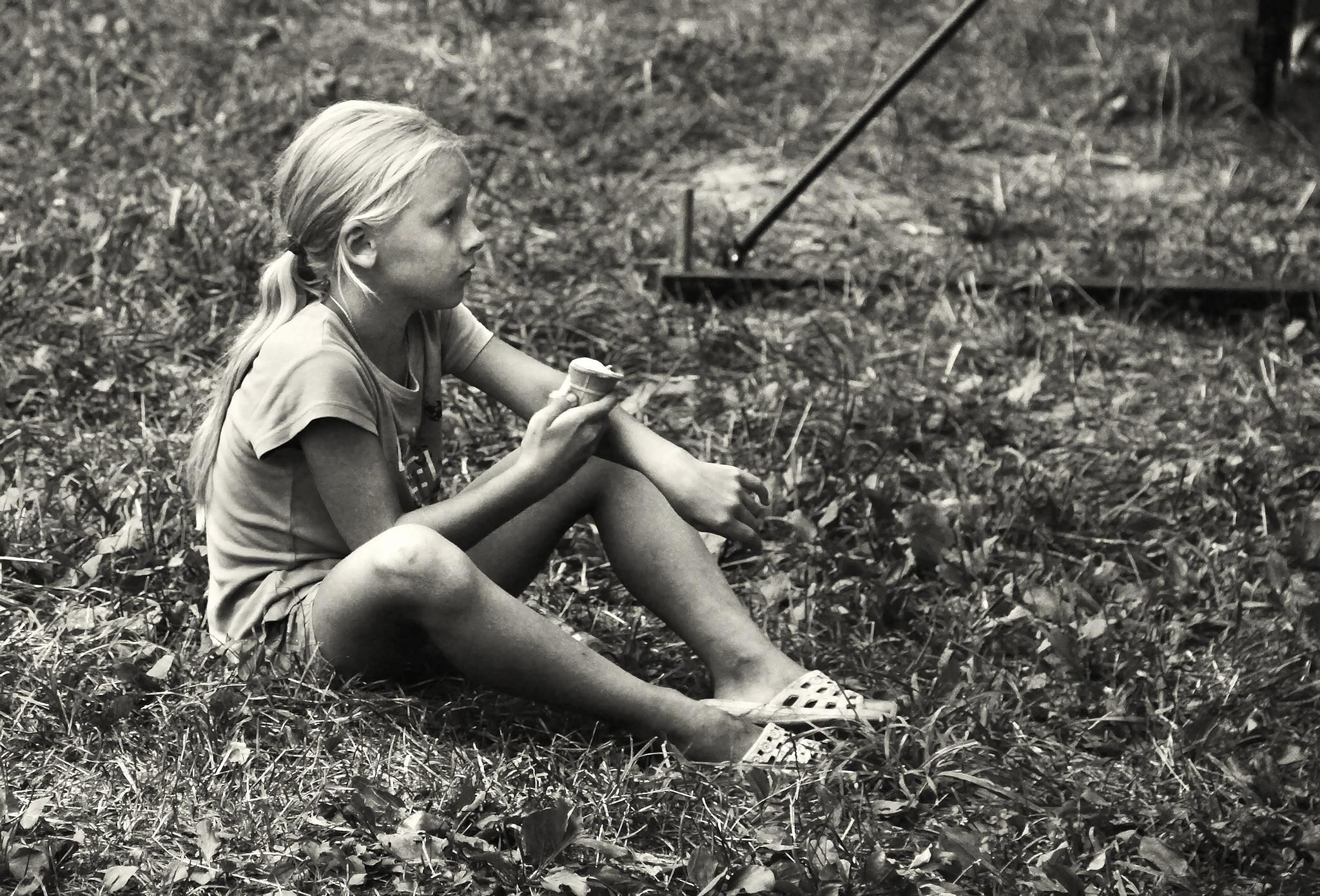 Girl and ice cream by Сергей Юрьев
