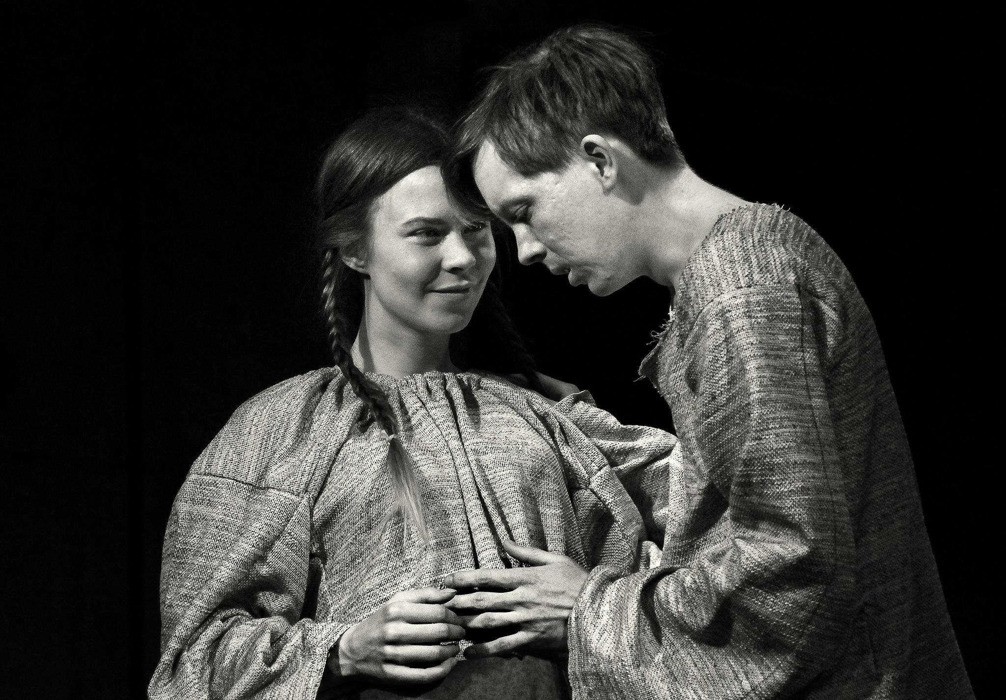 Actress Alisa Panova and actor Victor Konin by Сергей Юрьев