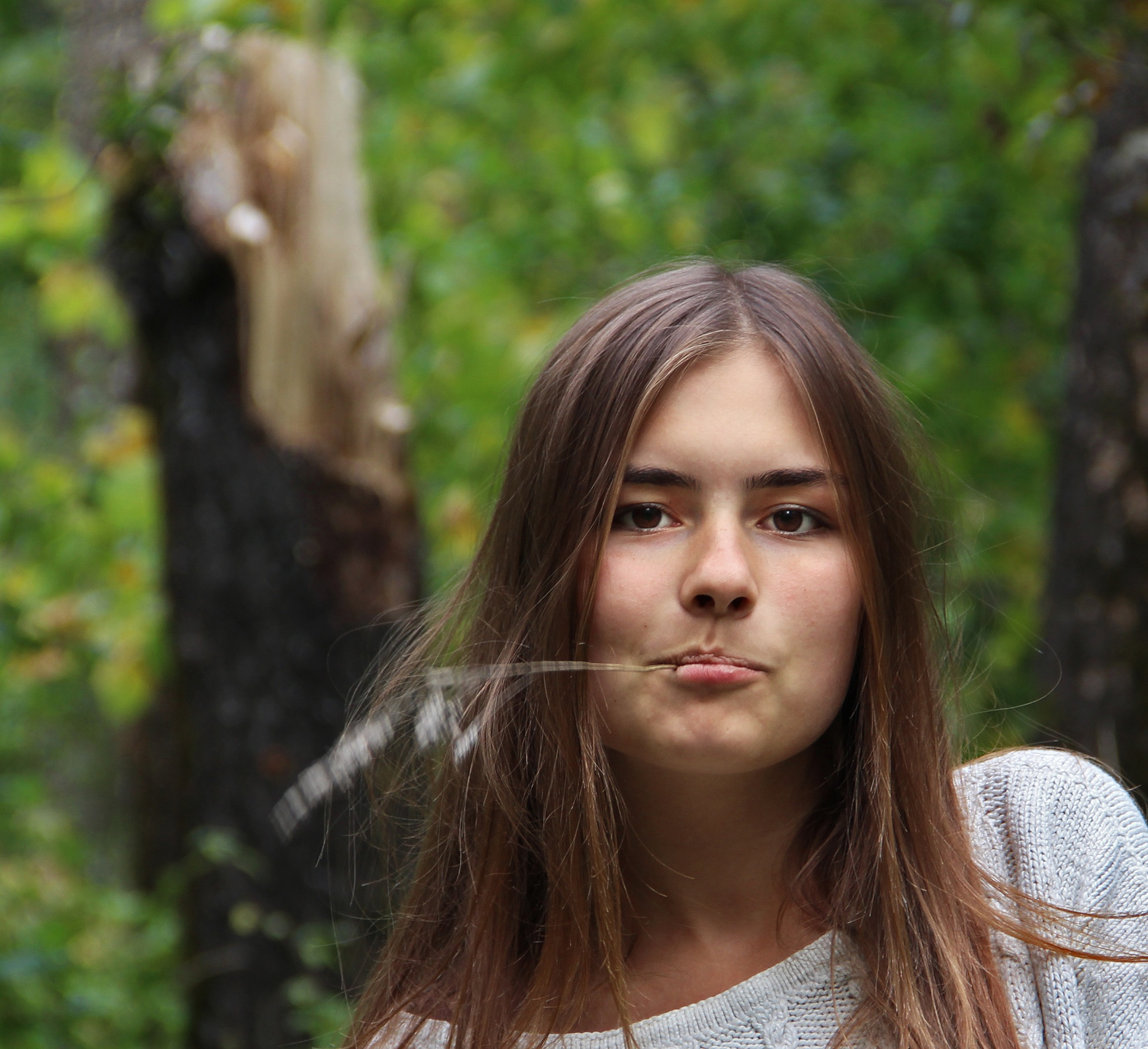 Yuliya in the forest by Сергей Юрьев