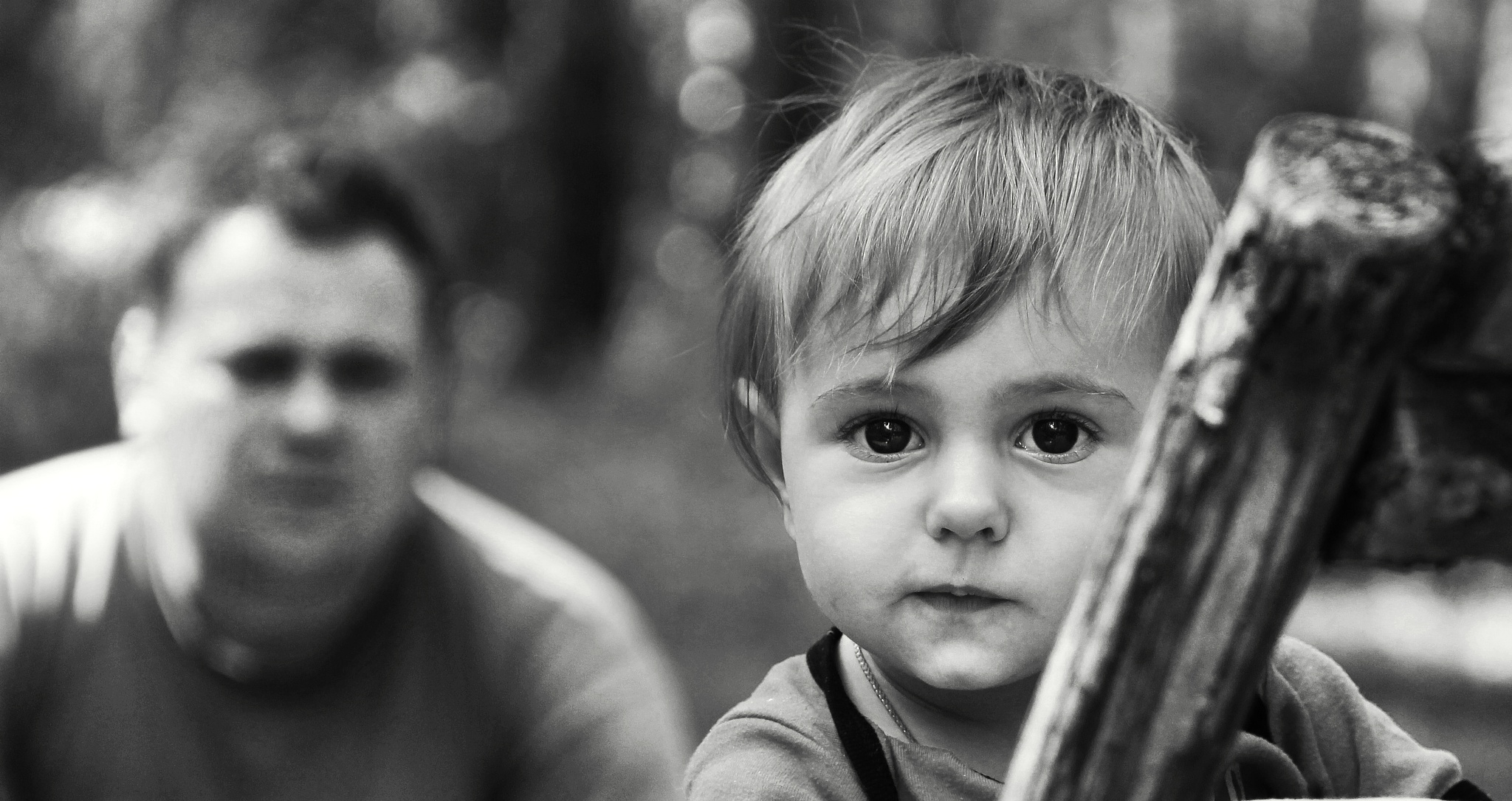 Photo in Portrait #forest #morning #kid #girl #man #look