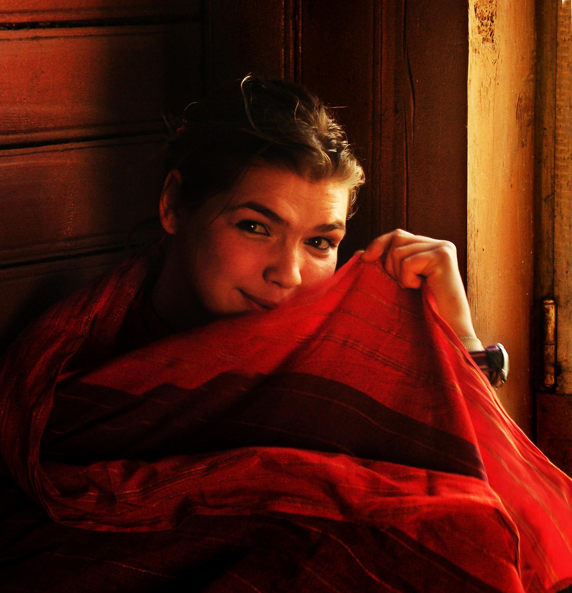 Masyanya and red plaid by Сергей Юрьев