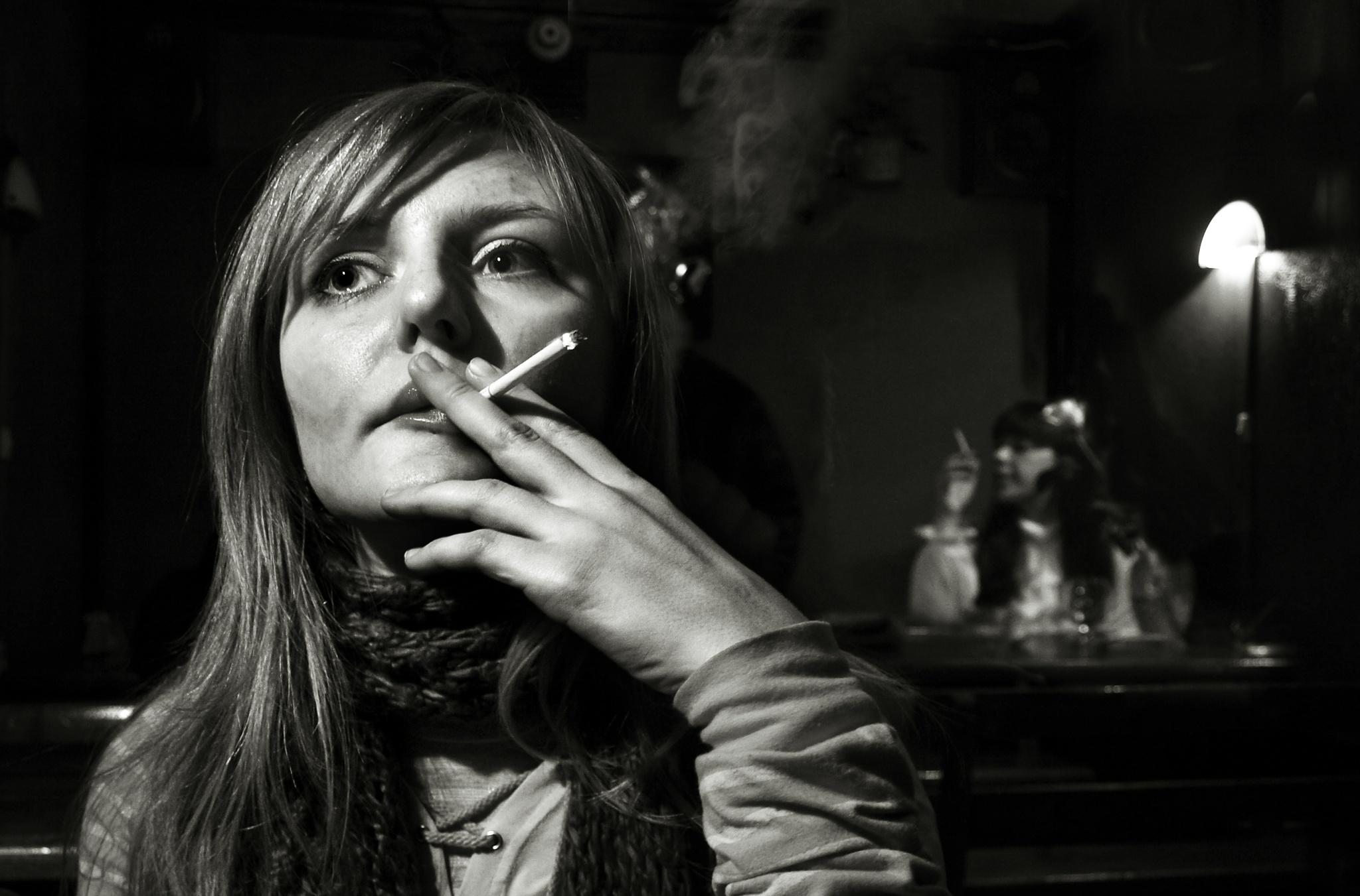 Anna in cafe by Сергей Юрьев