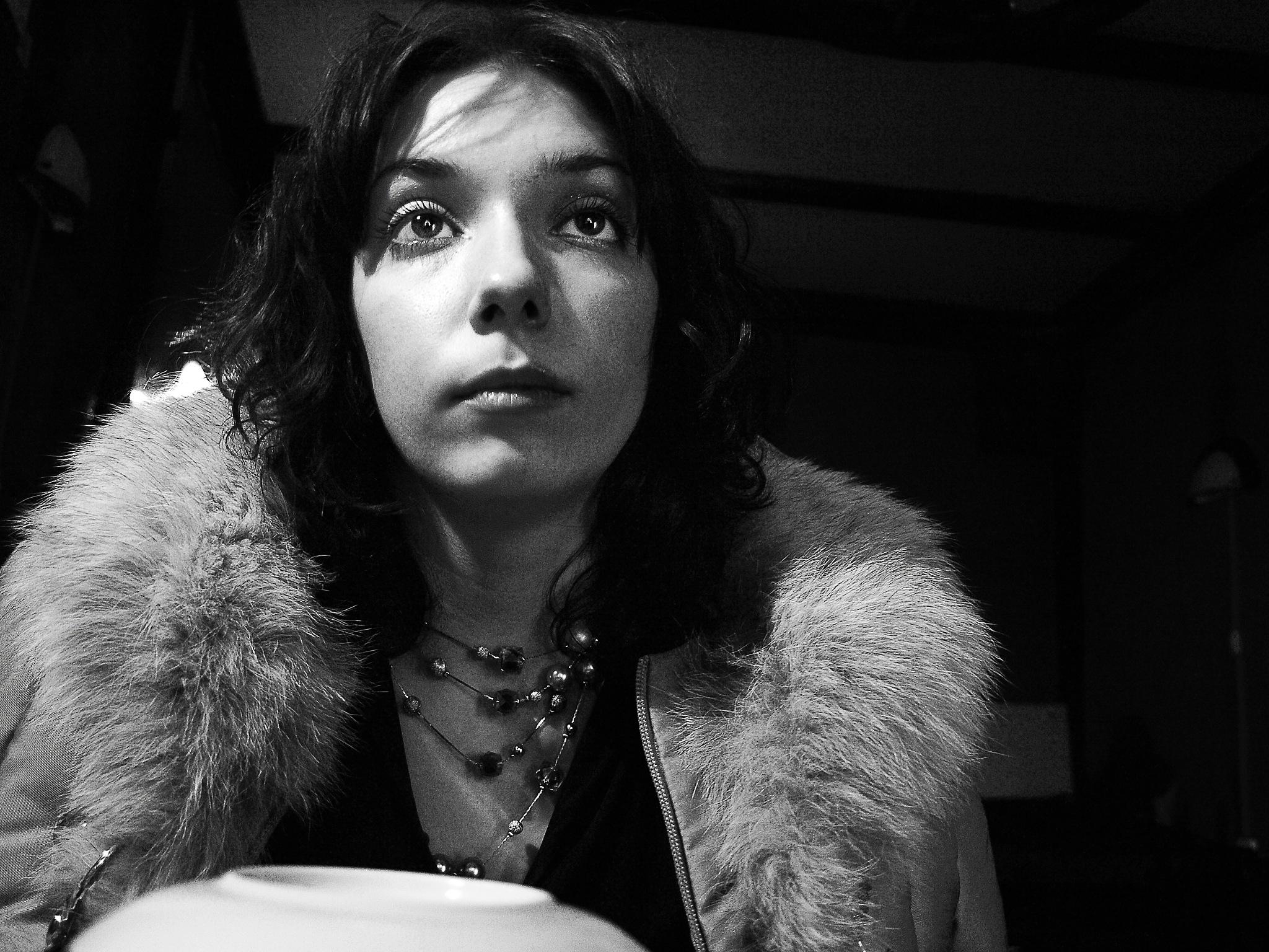 Olga in the cafe by Сергей Юрьев