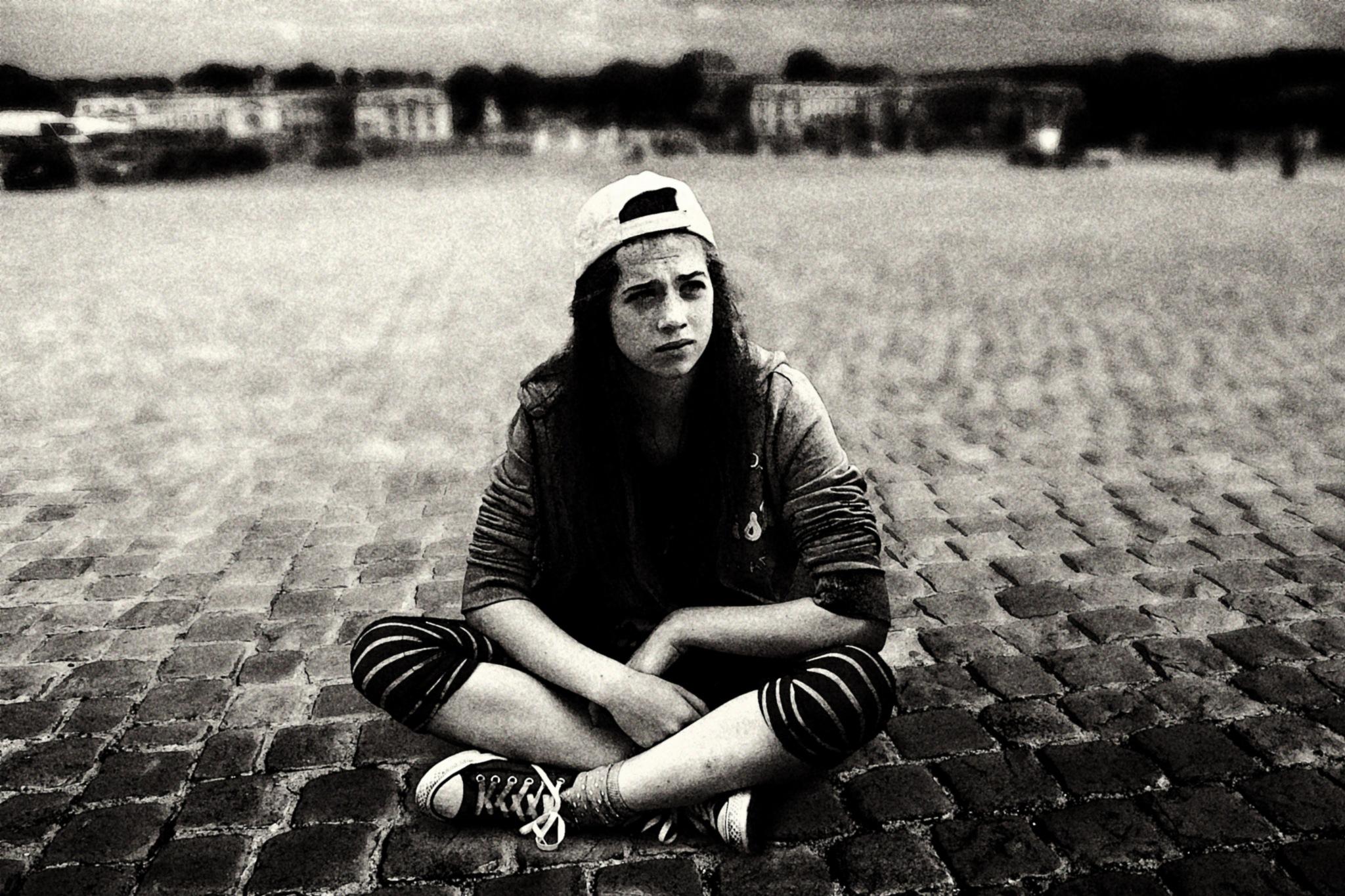 Girl on the Royal Square by Сергей Юрьев