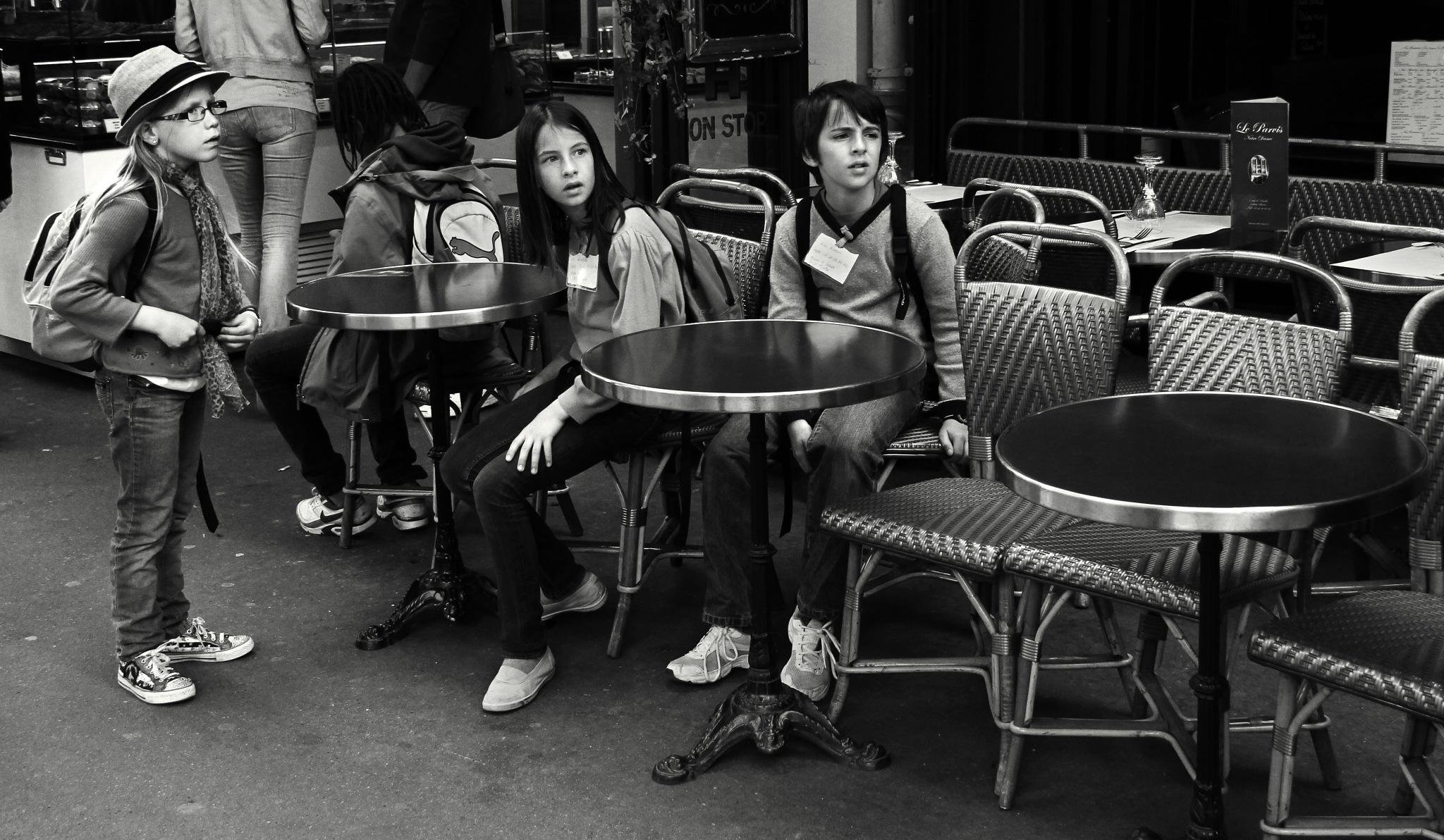 Children in cafe by Сергей Юрьев