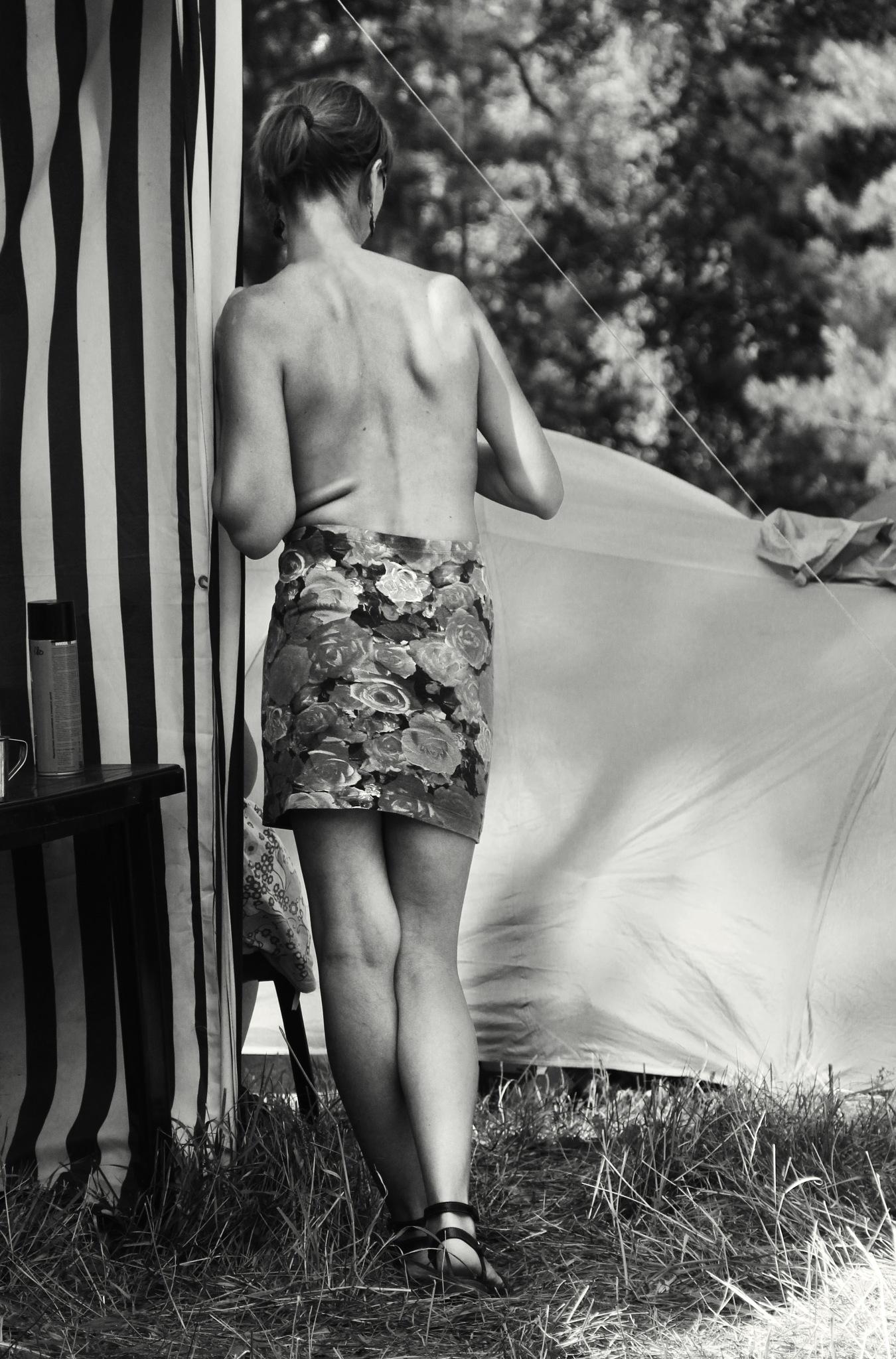 Woman in the shade by Сергей Юрьев