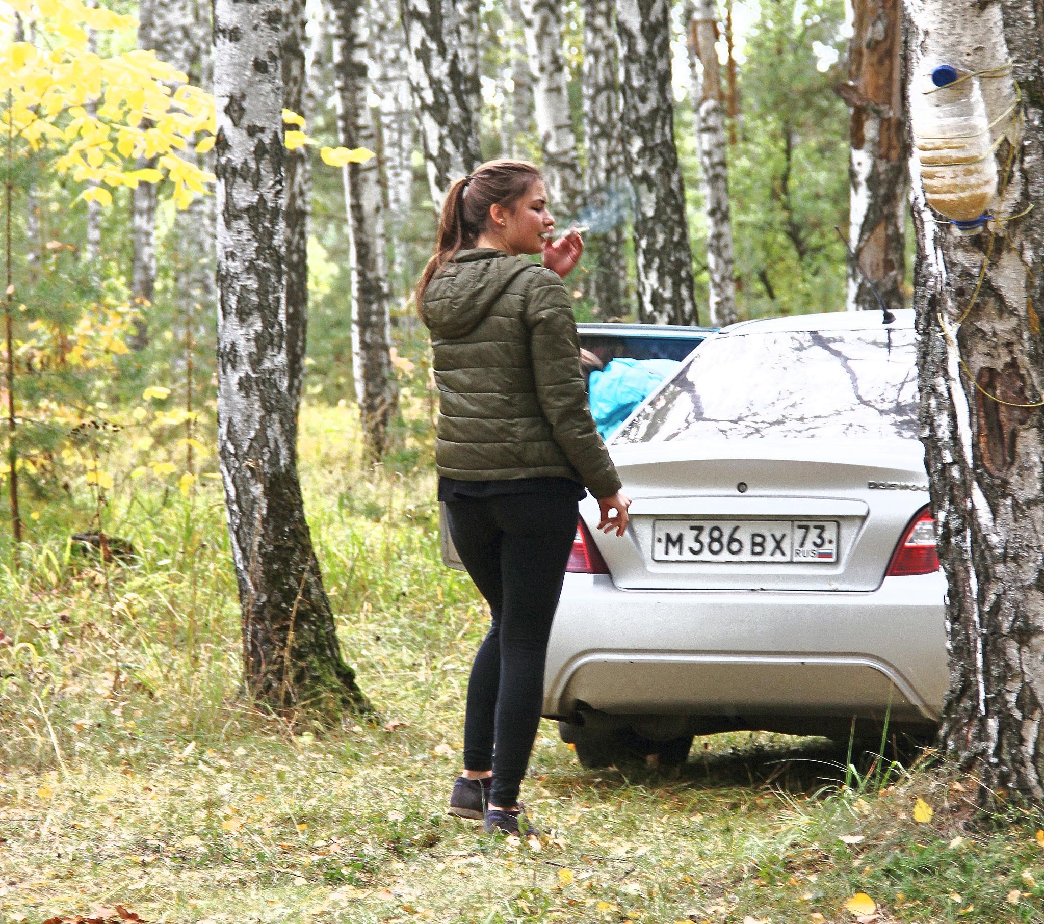 Yulija in the forest by Сергей Юрьев