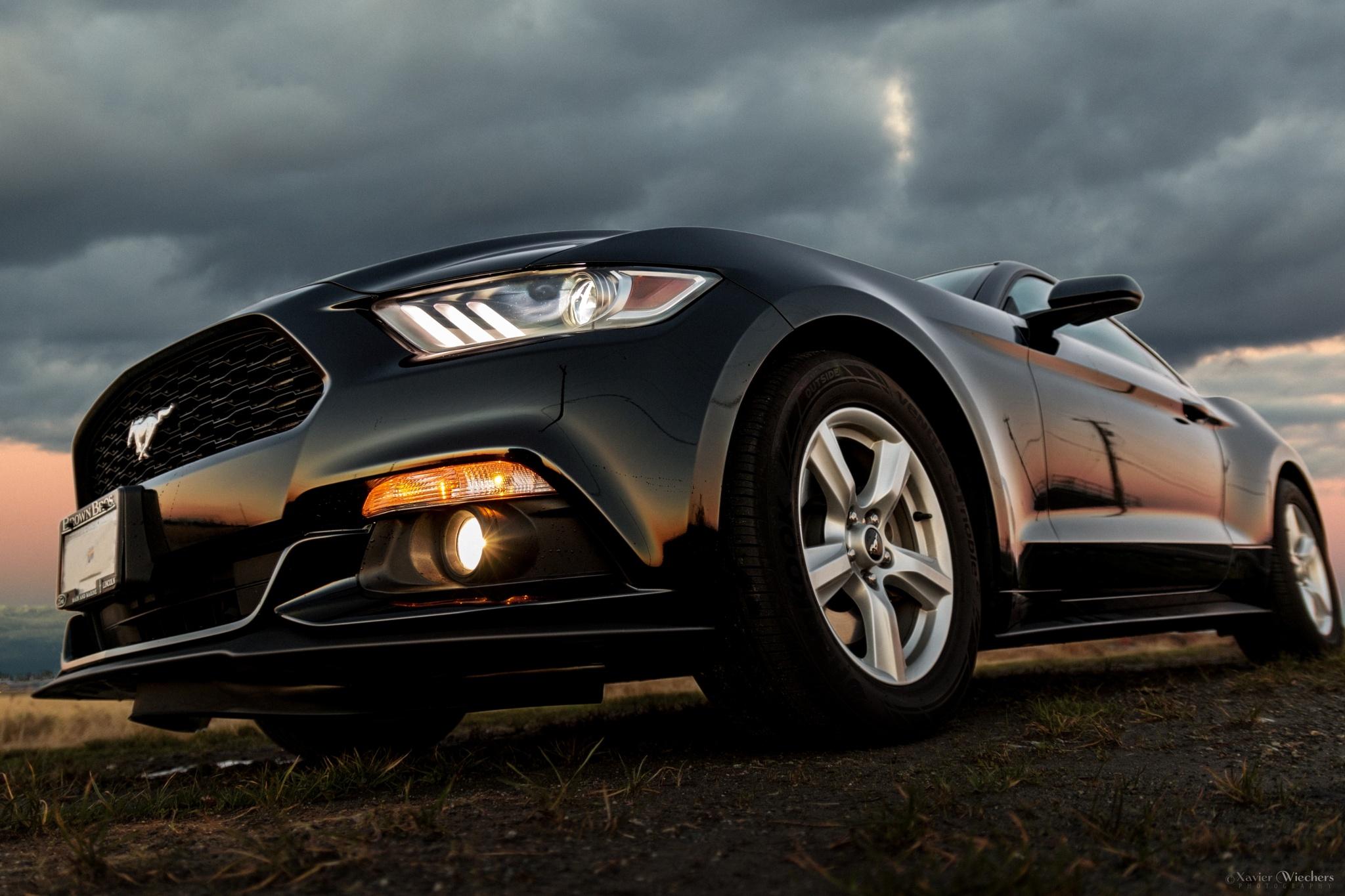 Xavier's Mustang 2015 - Sunset II by xwiechers