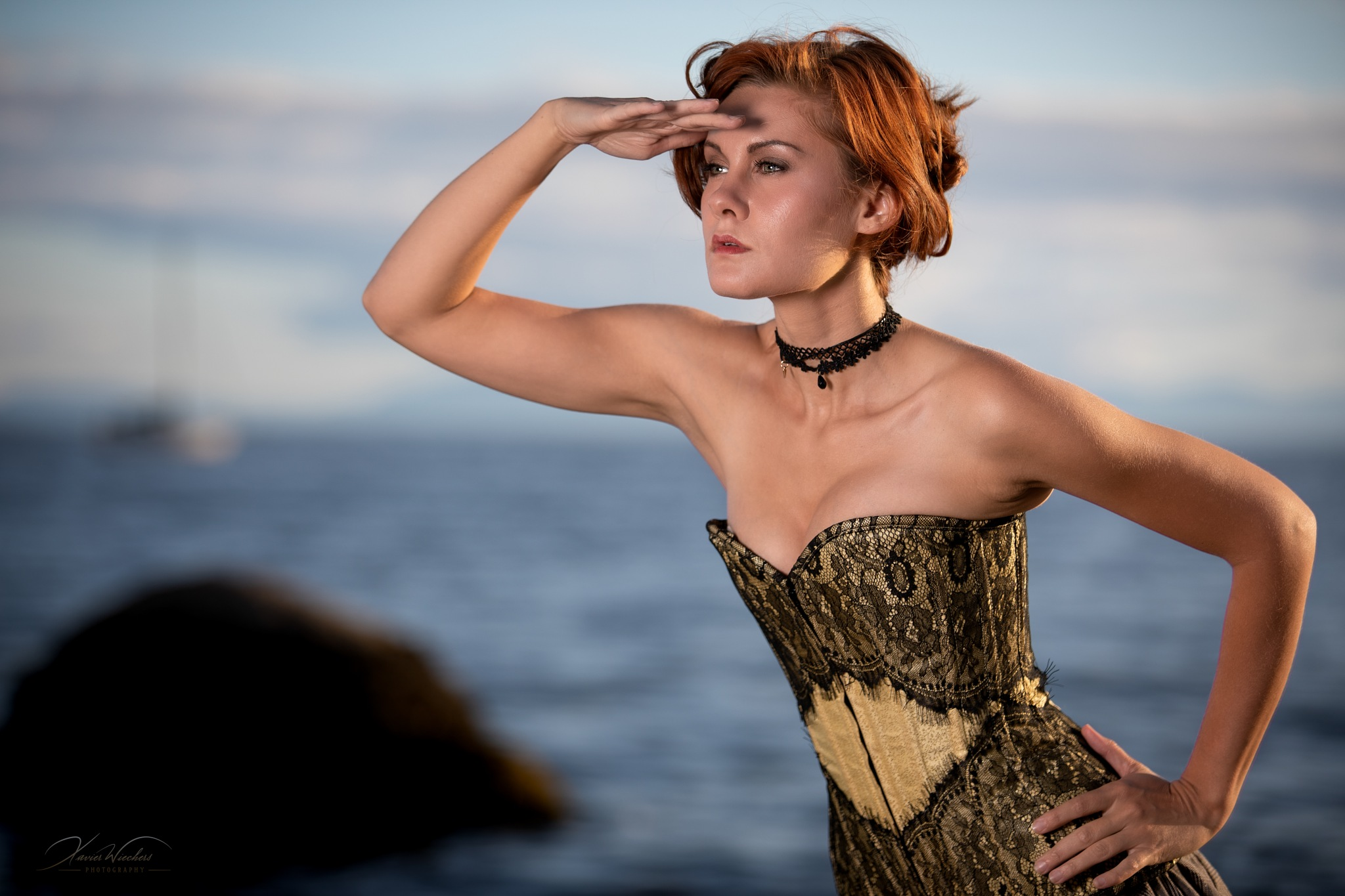 Photo in Portrait #vancouver #west vancouver #fashion #female #gorgeous #mansion #model #outdoors #sexy #steampunk