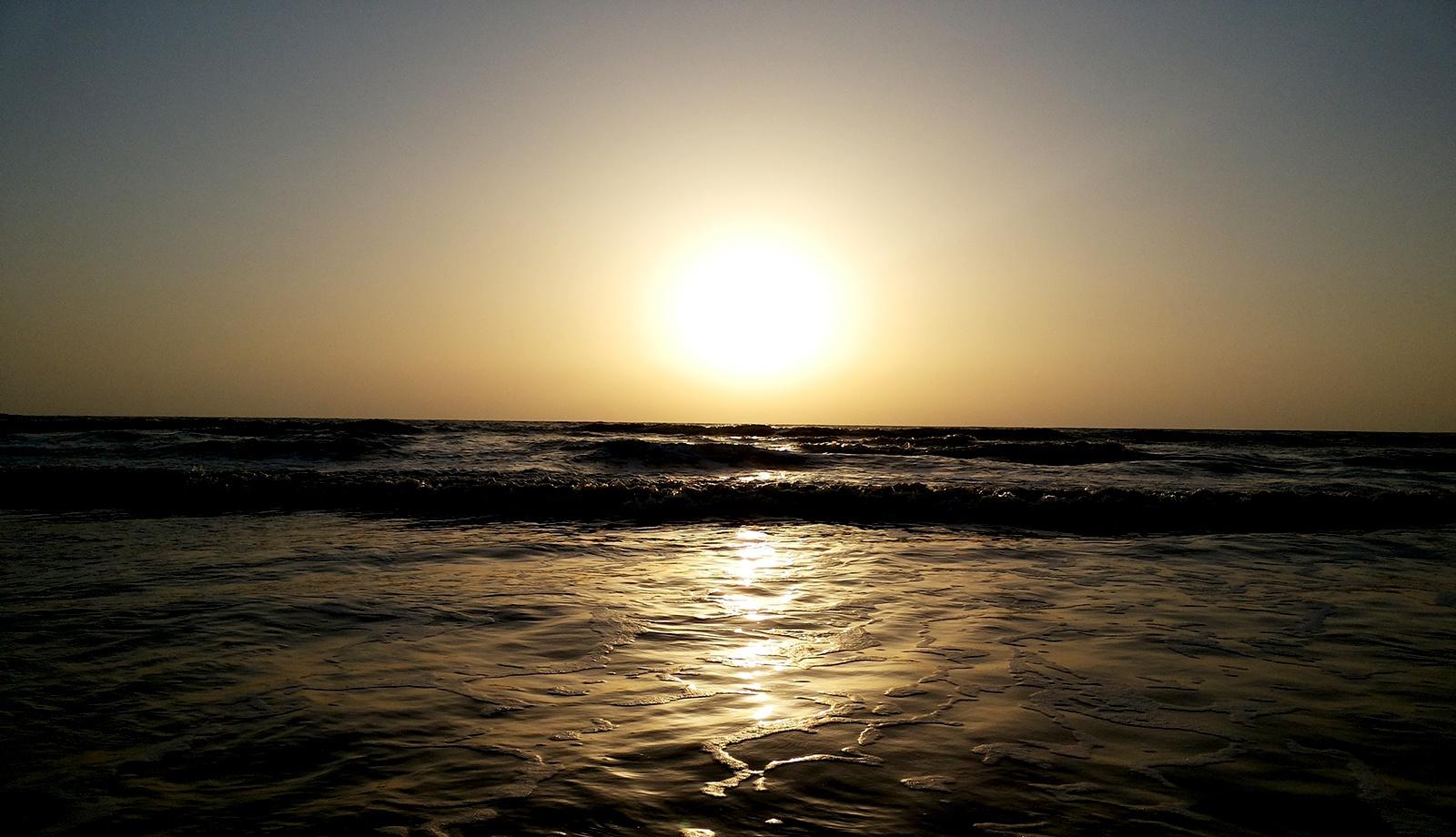 Photo in Nature #beach #mumbai #evening #sun