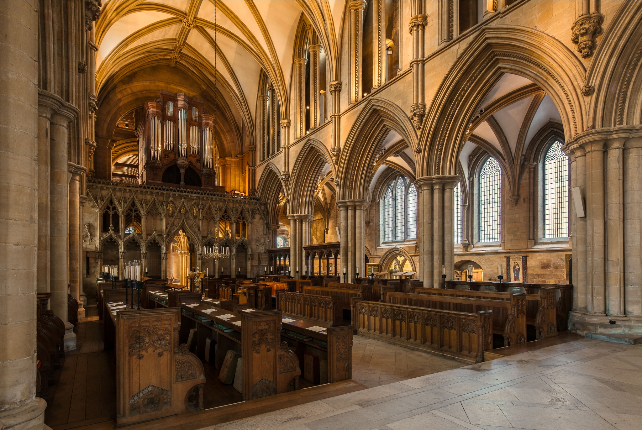 Inside the Southwell Minster by Harry Ward