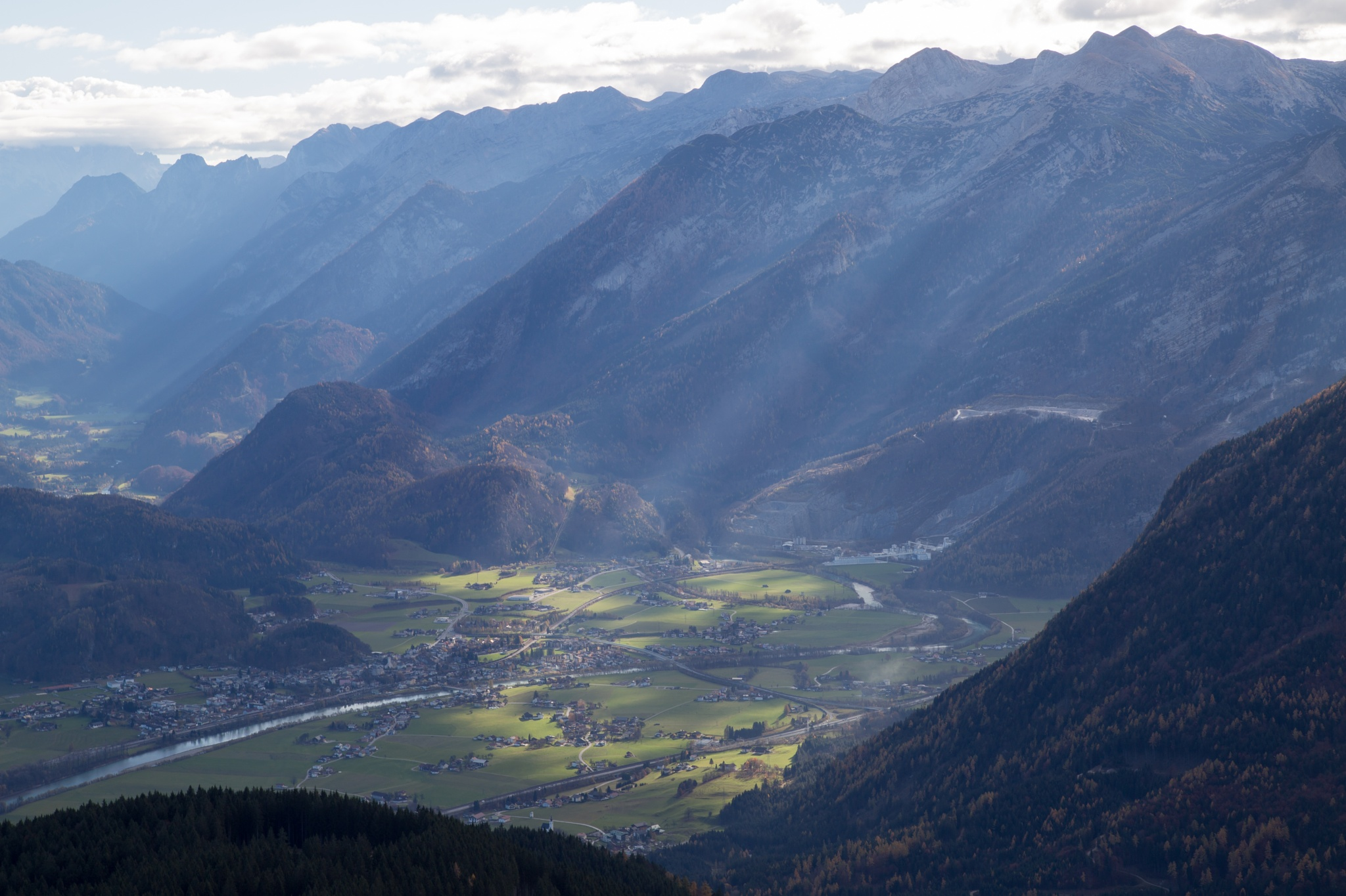 Mountain light - Golling Salzburg by Christoph Reiter