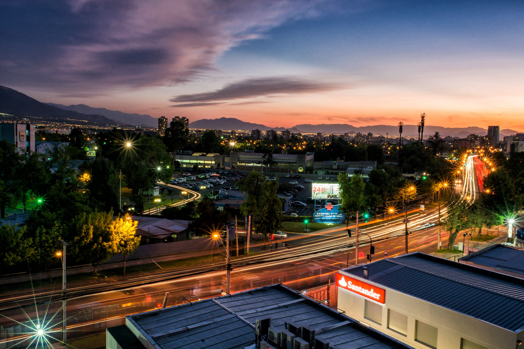 Santiago Sunset by Donny Campos