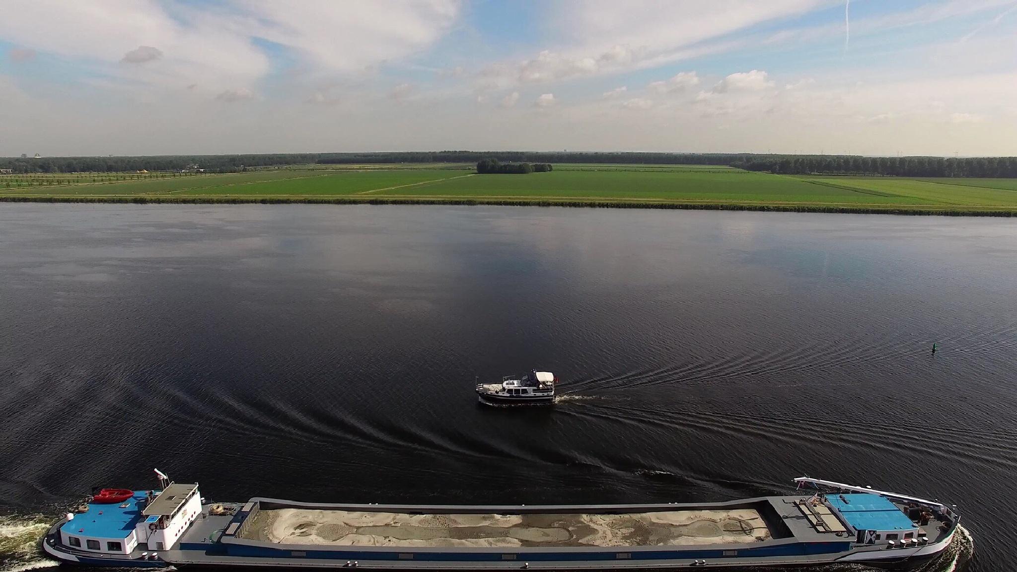 Little Boat, Big Boat by Aerial Bonanza