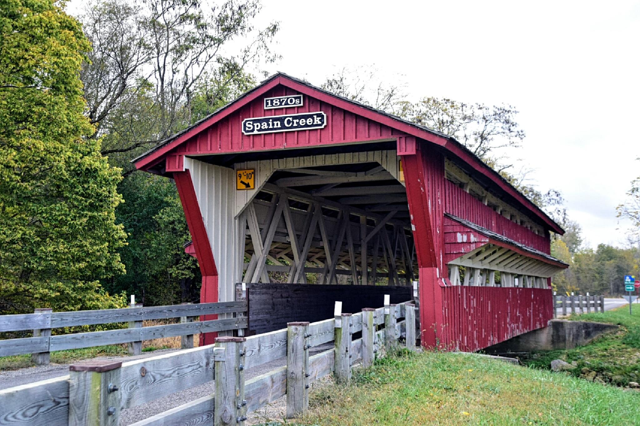 Spain Creek Covered Bridge by Tom Kitchen