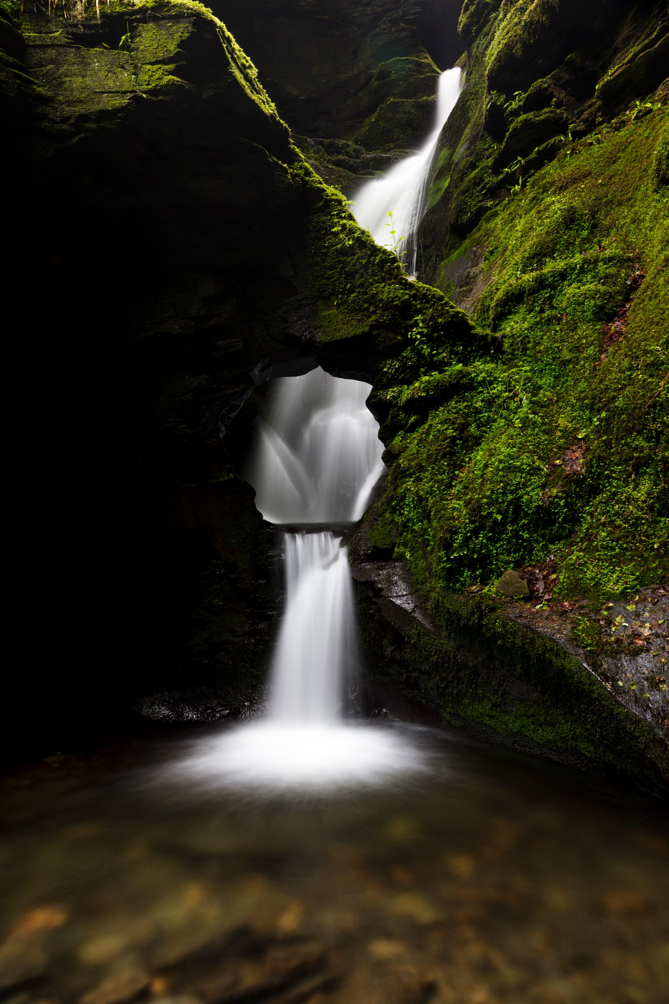 st nectan's waterfall by BerndStephan