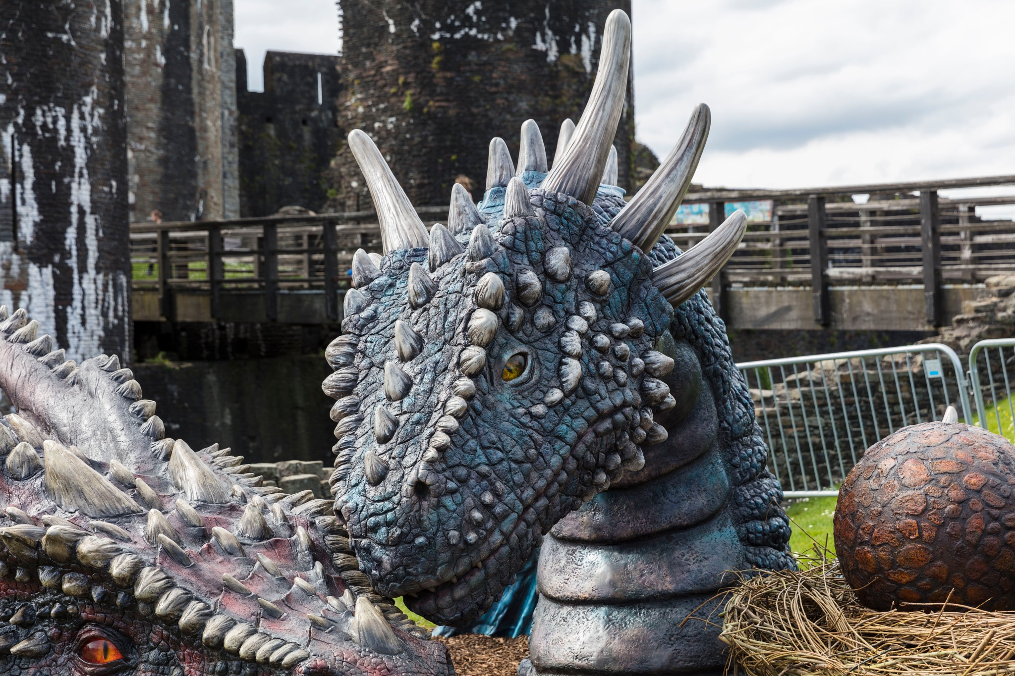 Dragons Caerphilly Castle by BerndStephan