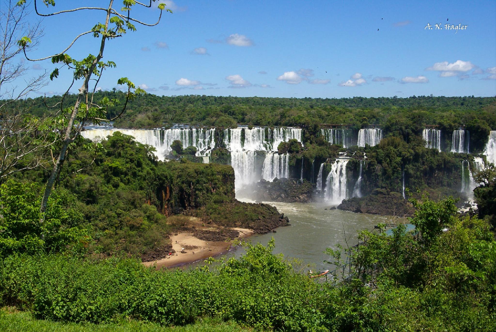 Lower Iguacu falls on Argentine side by allenhagler59663852