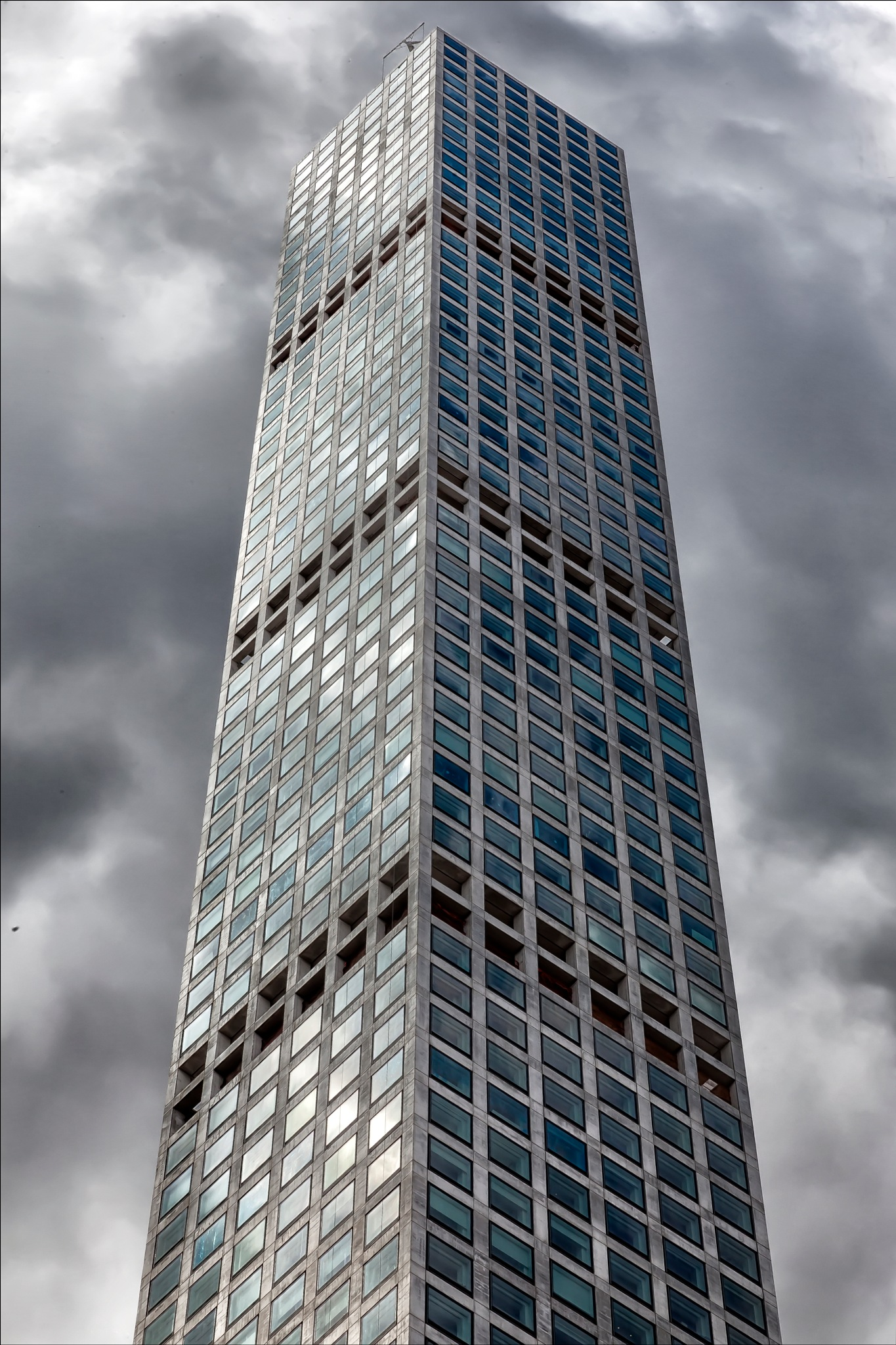 High Rise and Clouds NYC by robertullmann