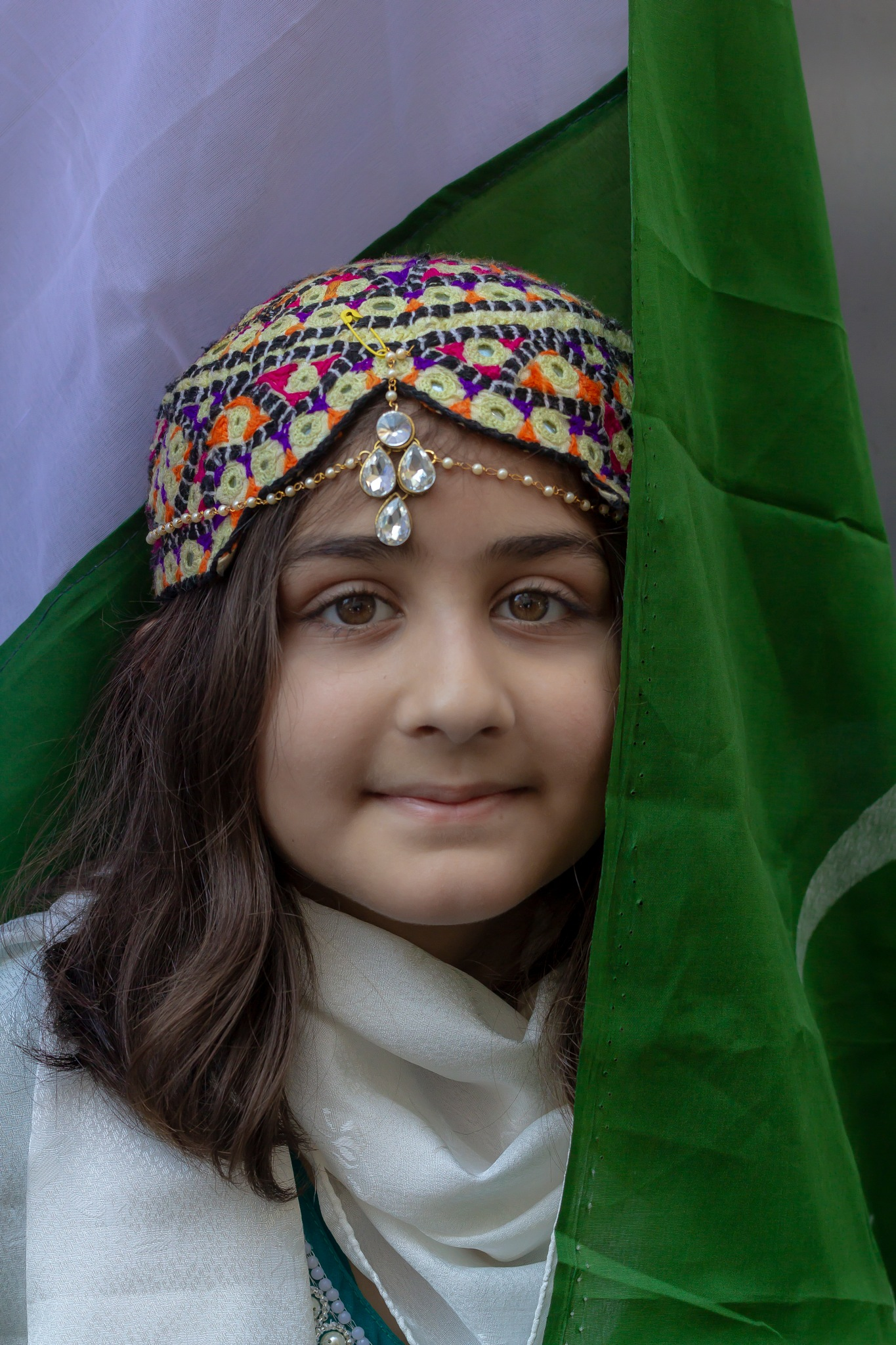 Pakistani Day NYC - Young Girl - Traditional Dress by robertullmann