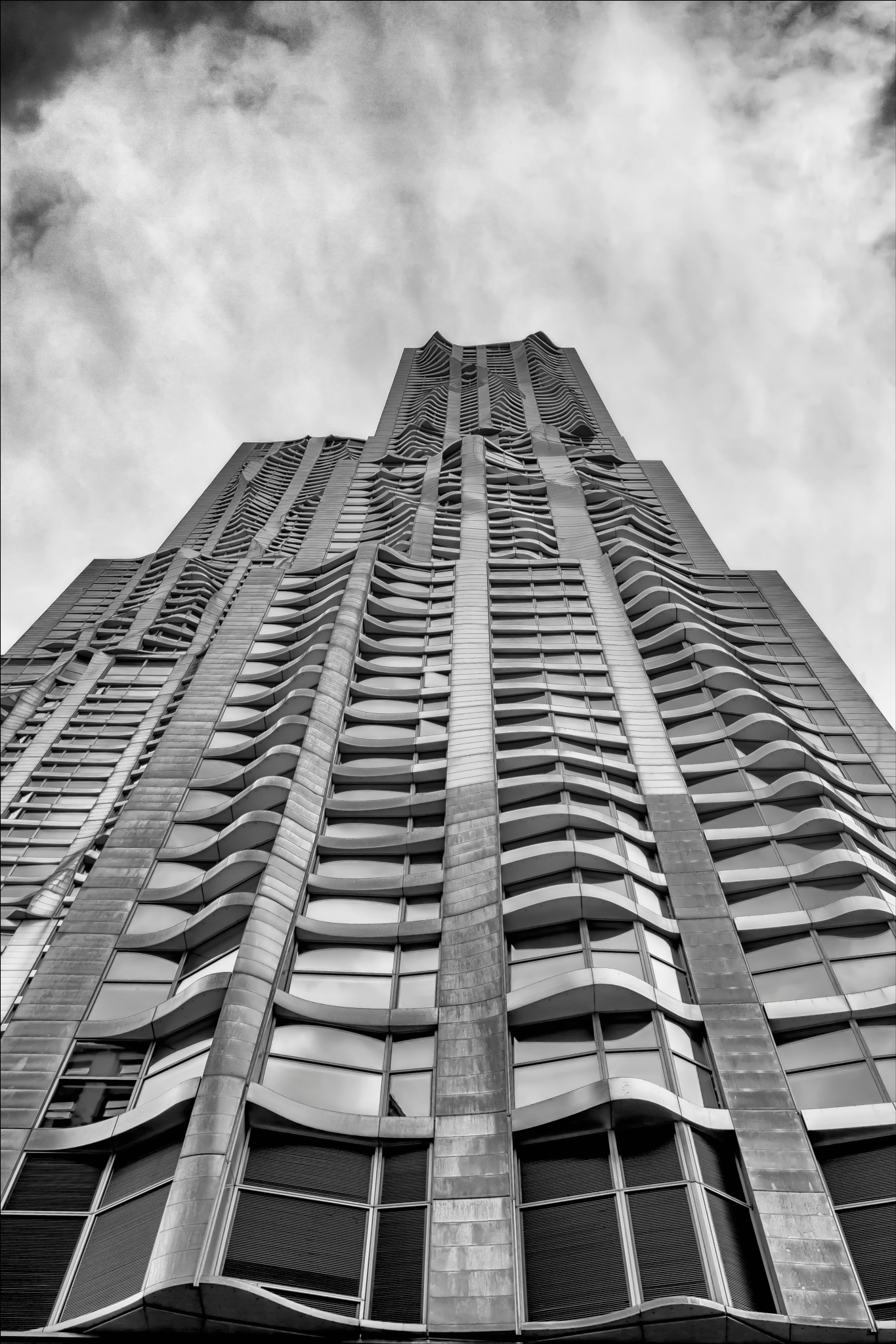 Frank Gehry High Rise Lower Manhattan NYC by robertullmann