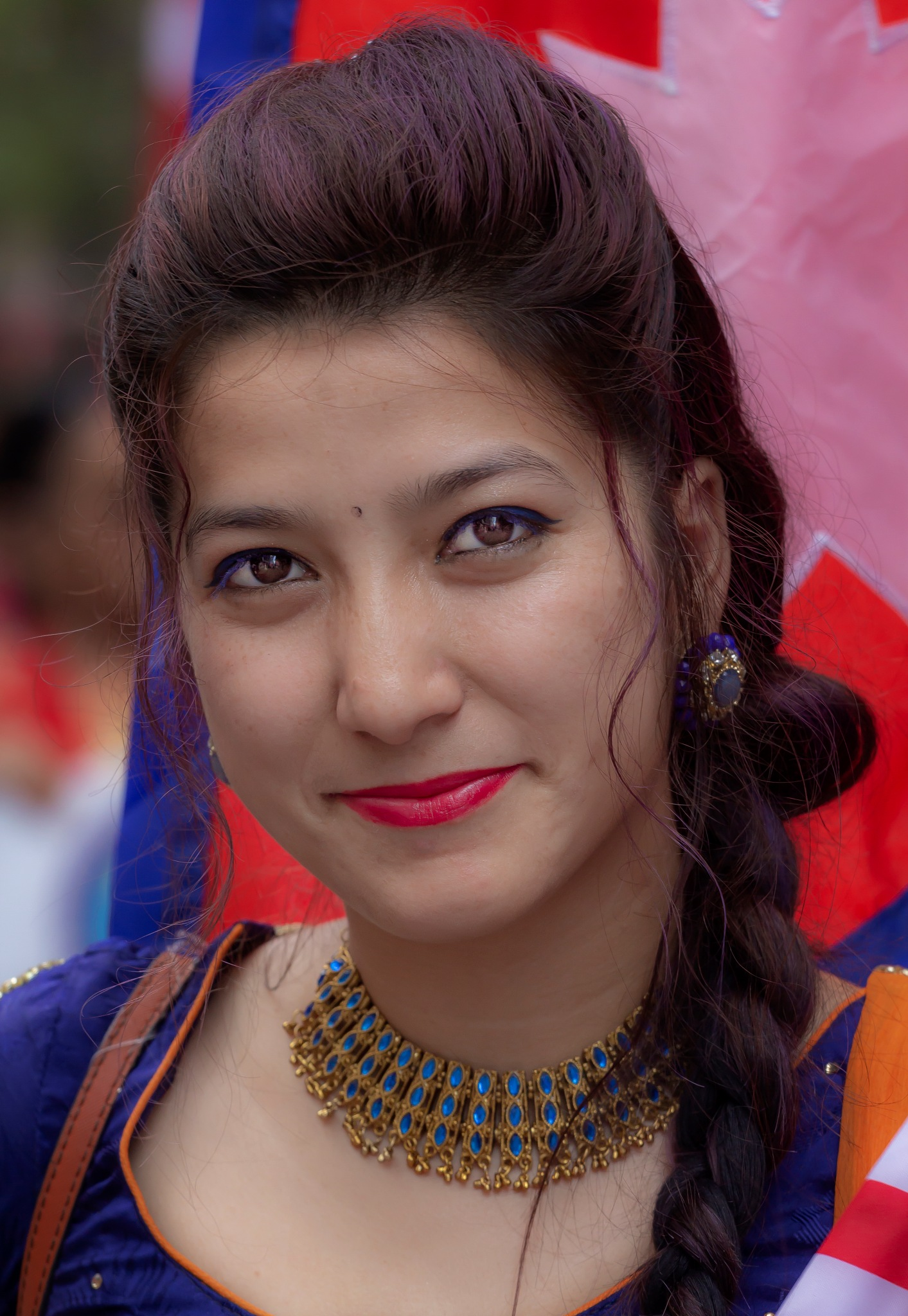 Nepal Day NYC 5_20_18 Woman in Tradtional Dress by robertullmann