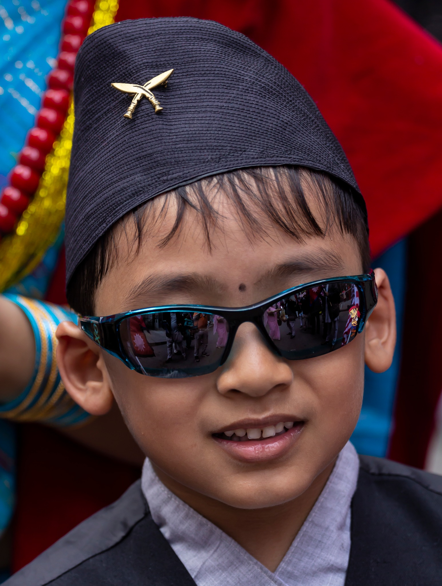 Nepal Day NYC 5_20_18 Boy in Tradtional Attire by robertullmann