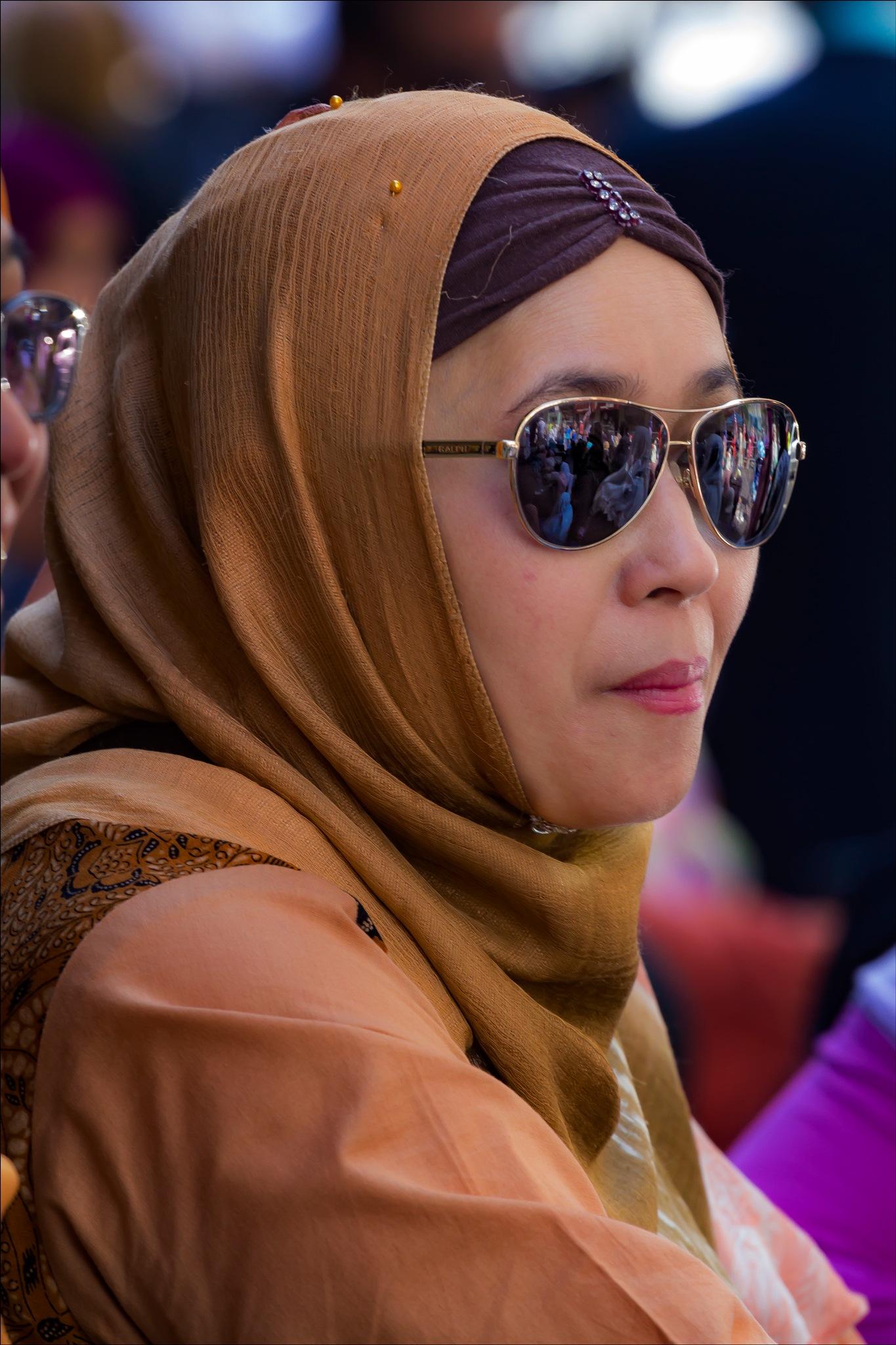 Moslem Woman Moslem Day NYC 2017 by robertullmann