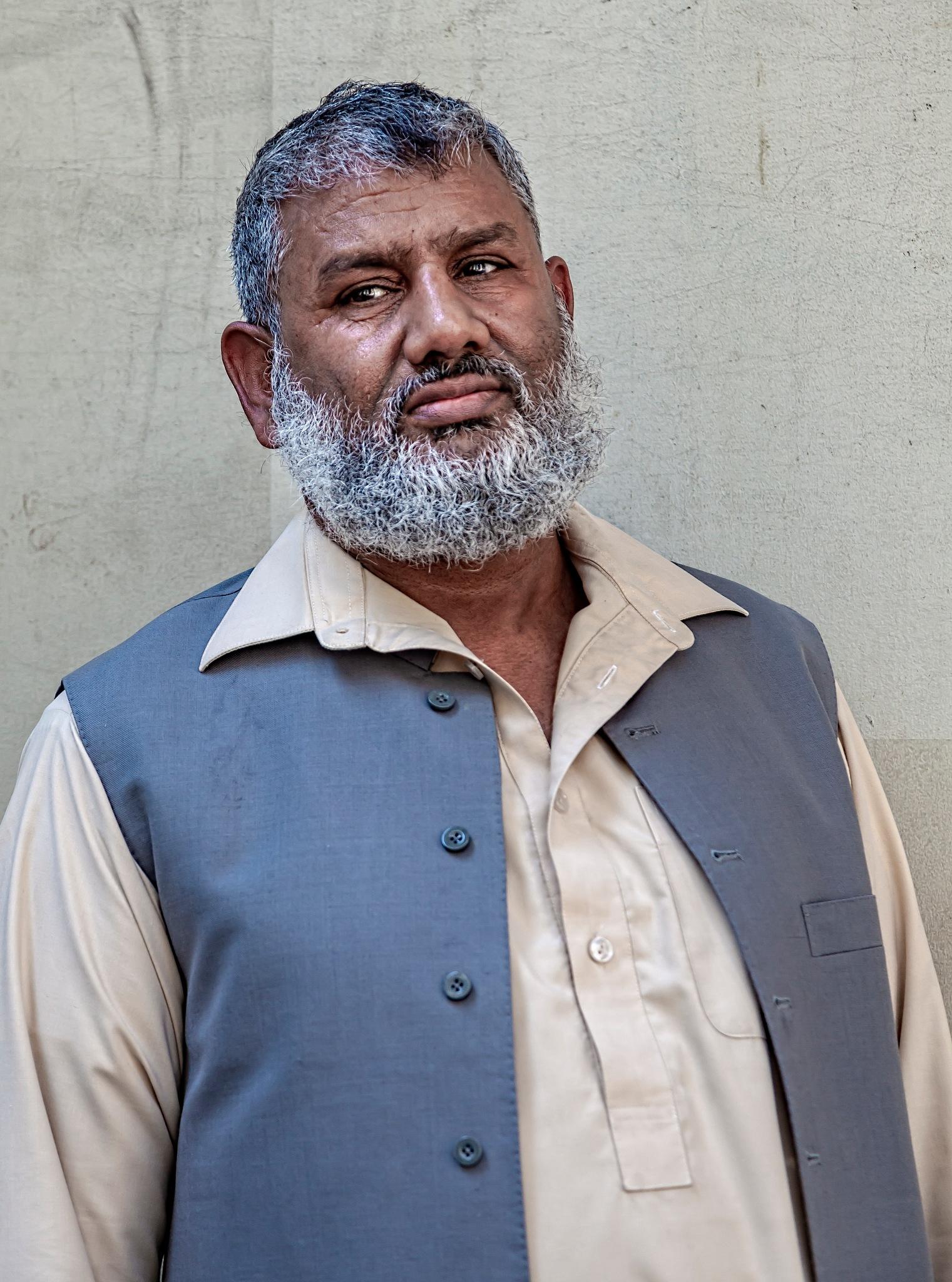 Bearded Pakistani Man - Pakistani Day NYC 2018 by robertullmann