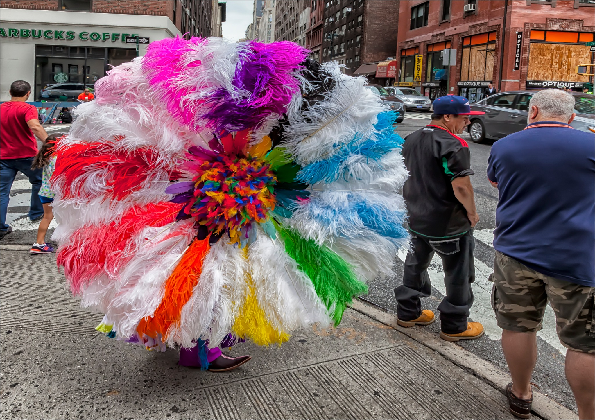 Mexican Day Parade NYC 2016 Part of a Costume by robertullmann