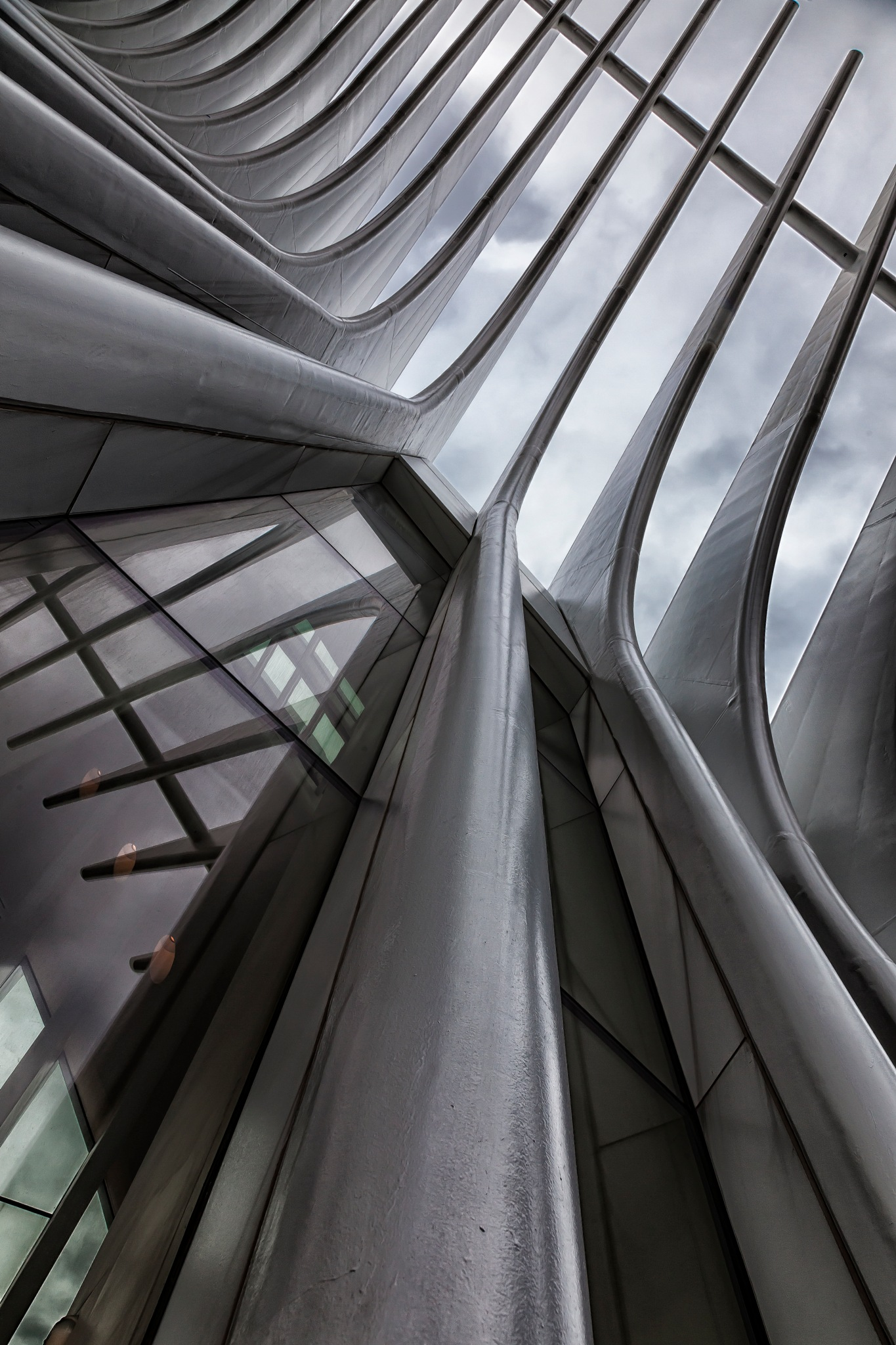 Detail Oculus Building NYC by robertullmann