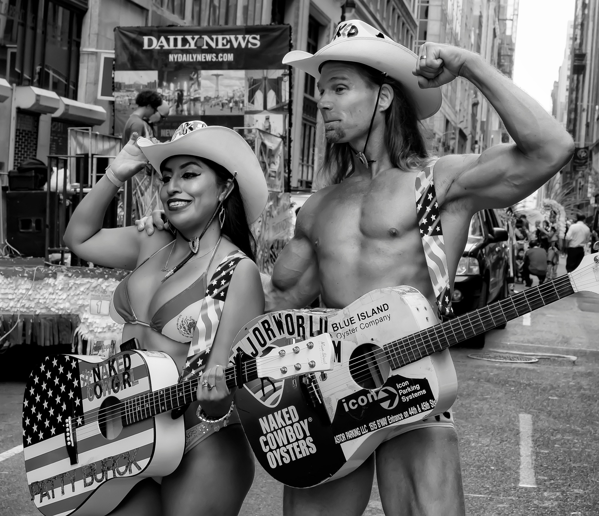 Mr. and Mrs. Naked Cowboy by robertullmann