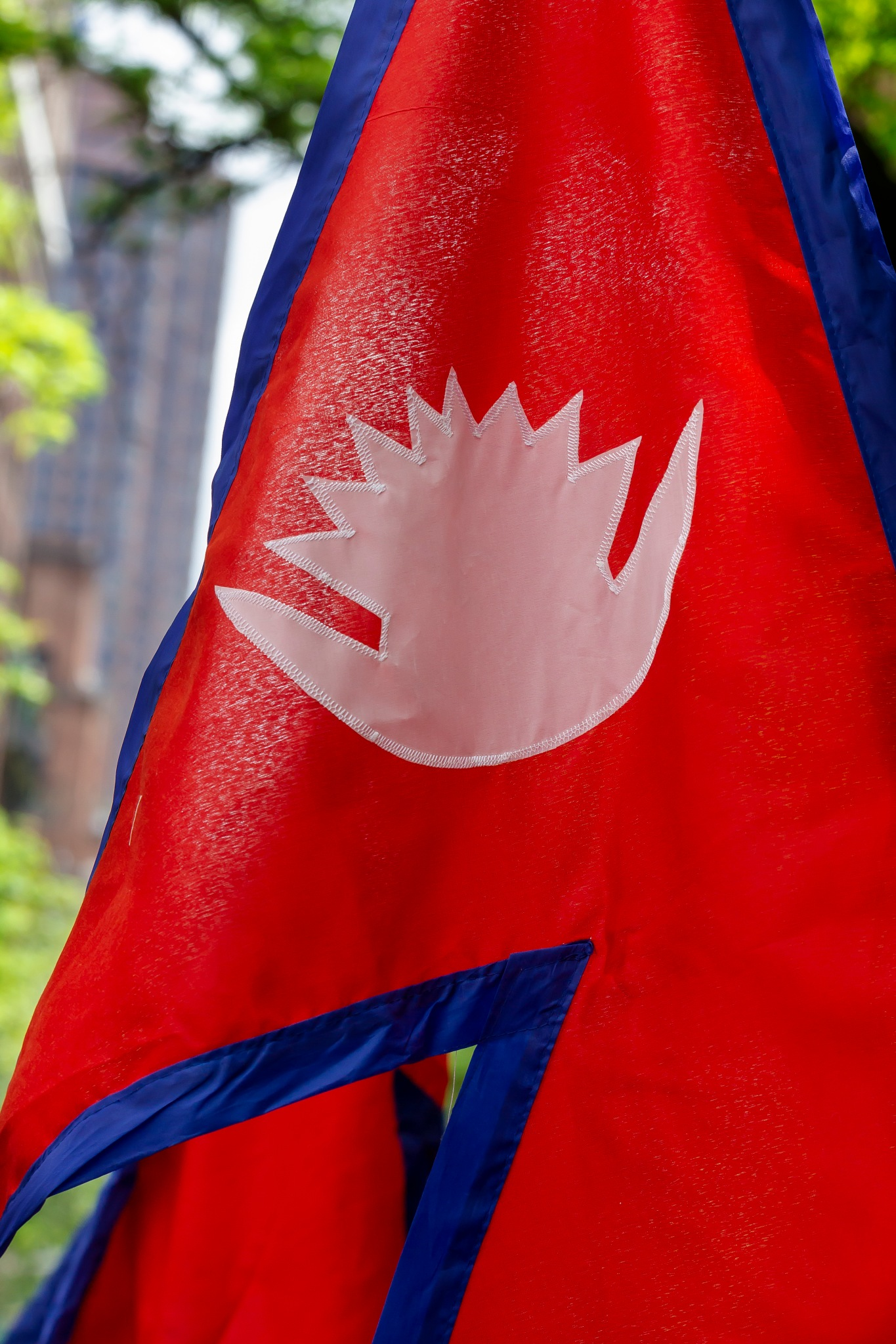 Nepalese Flag - Nepal Day NYC 2018 by robertullmann
