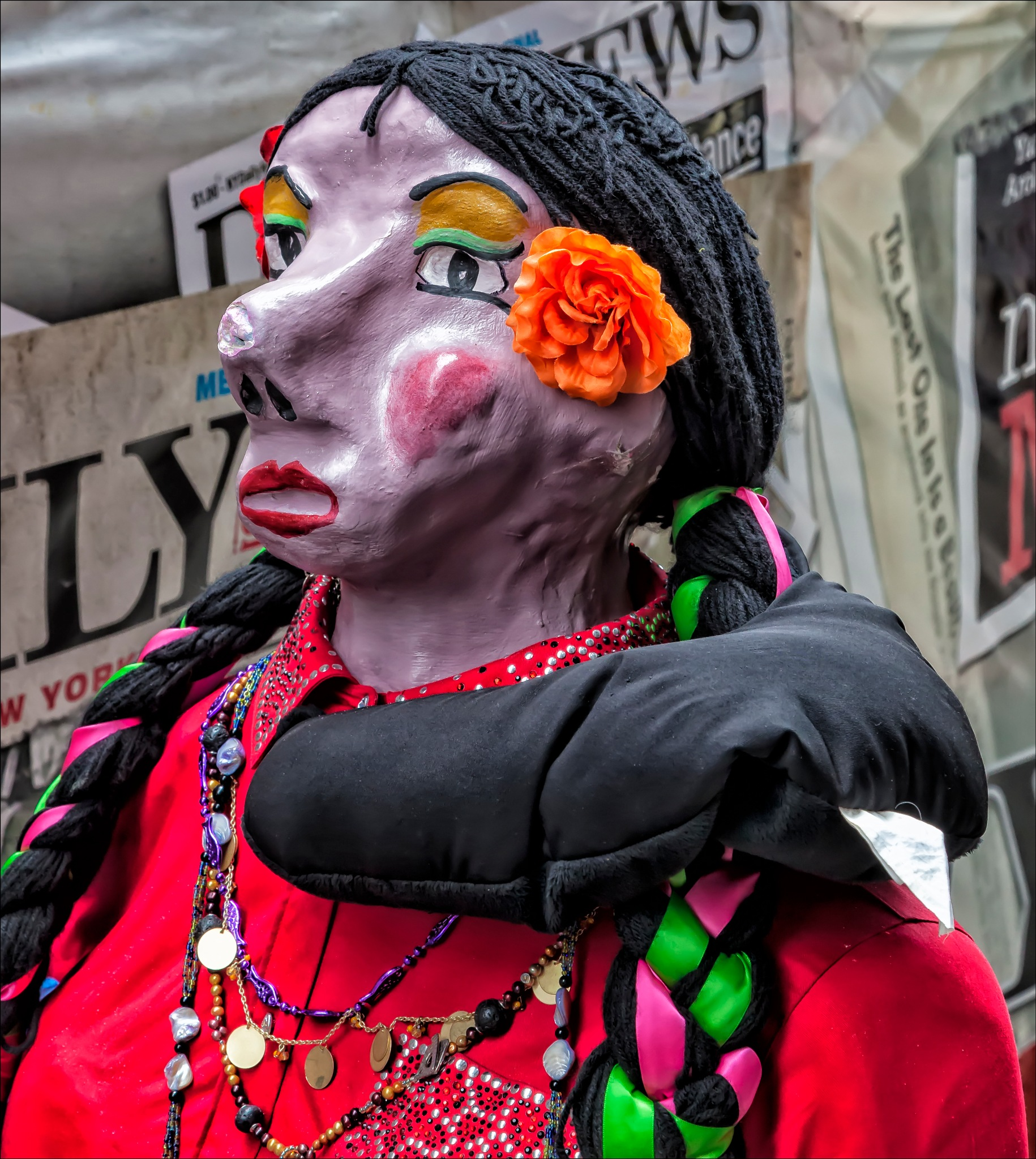 Mexican Day Parade NYC 2016 Statue by robertullmann