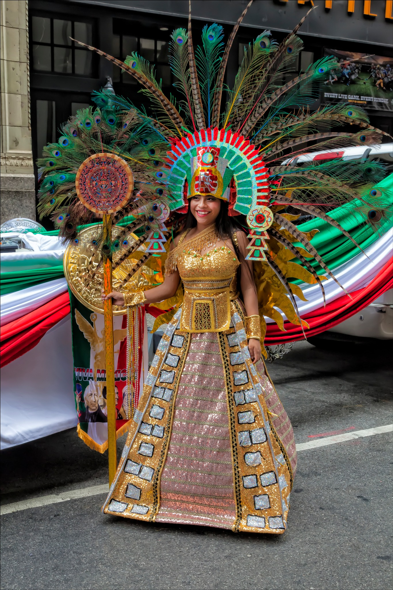 Mexican Day Parade NYC 2016 Traditional Dress by robertullmann