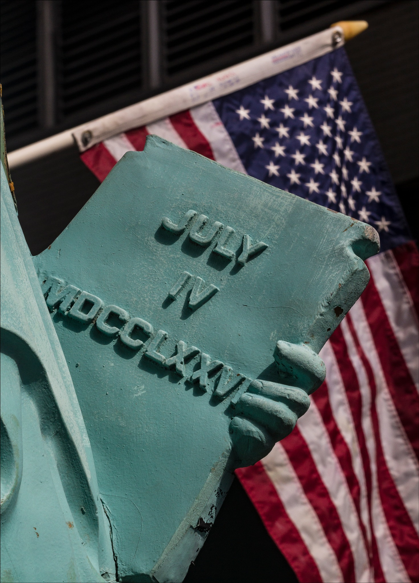Model of Statue of Liberty - Detail by robertullmann