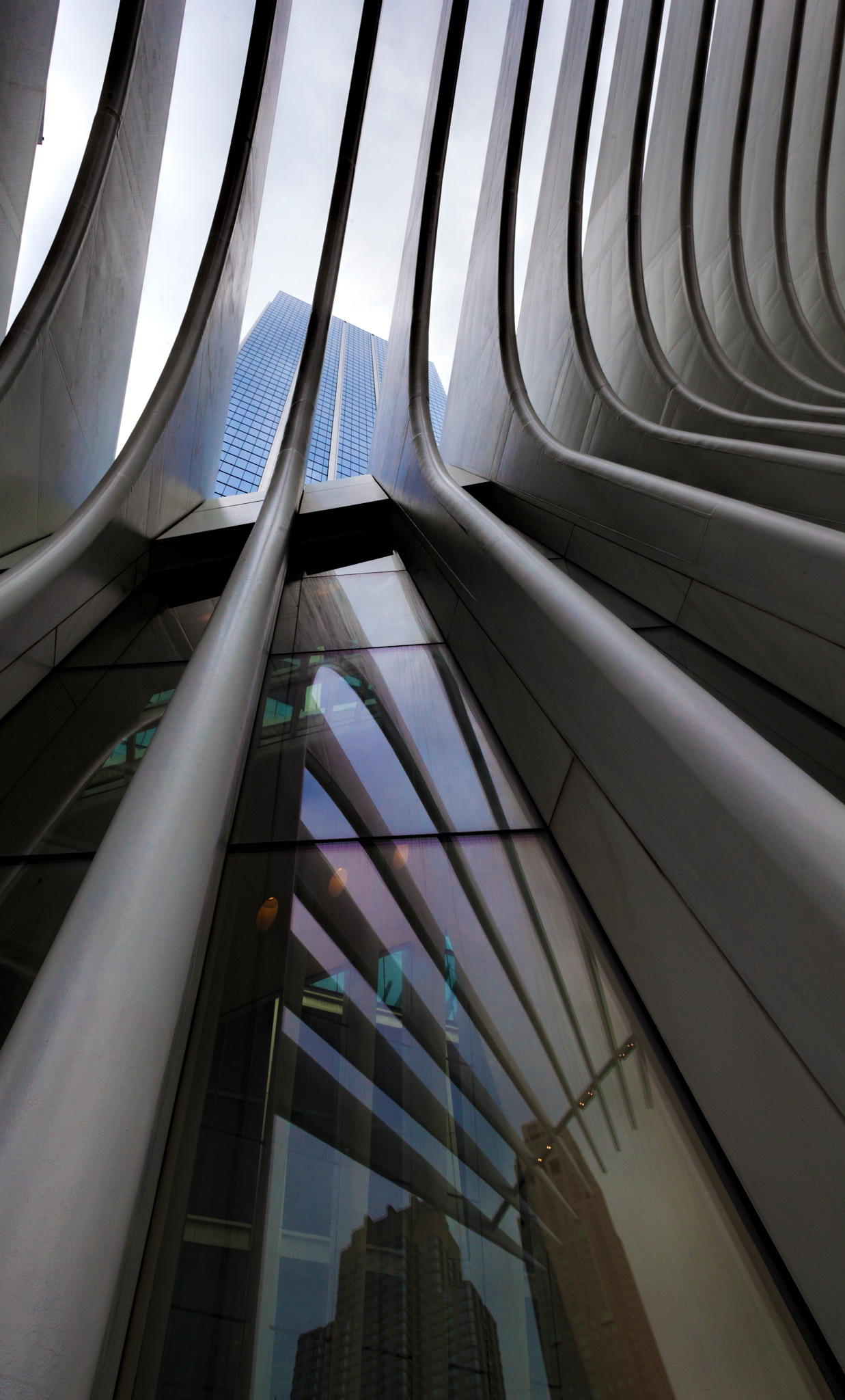 Detail Oculus Building NYC by robertullmann