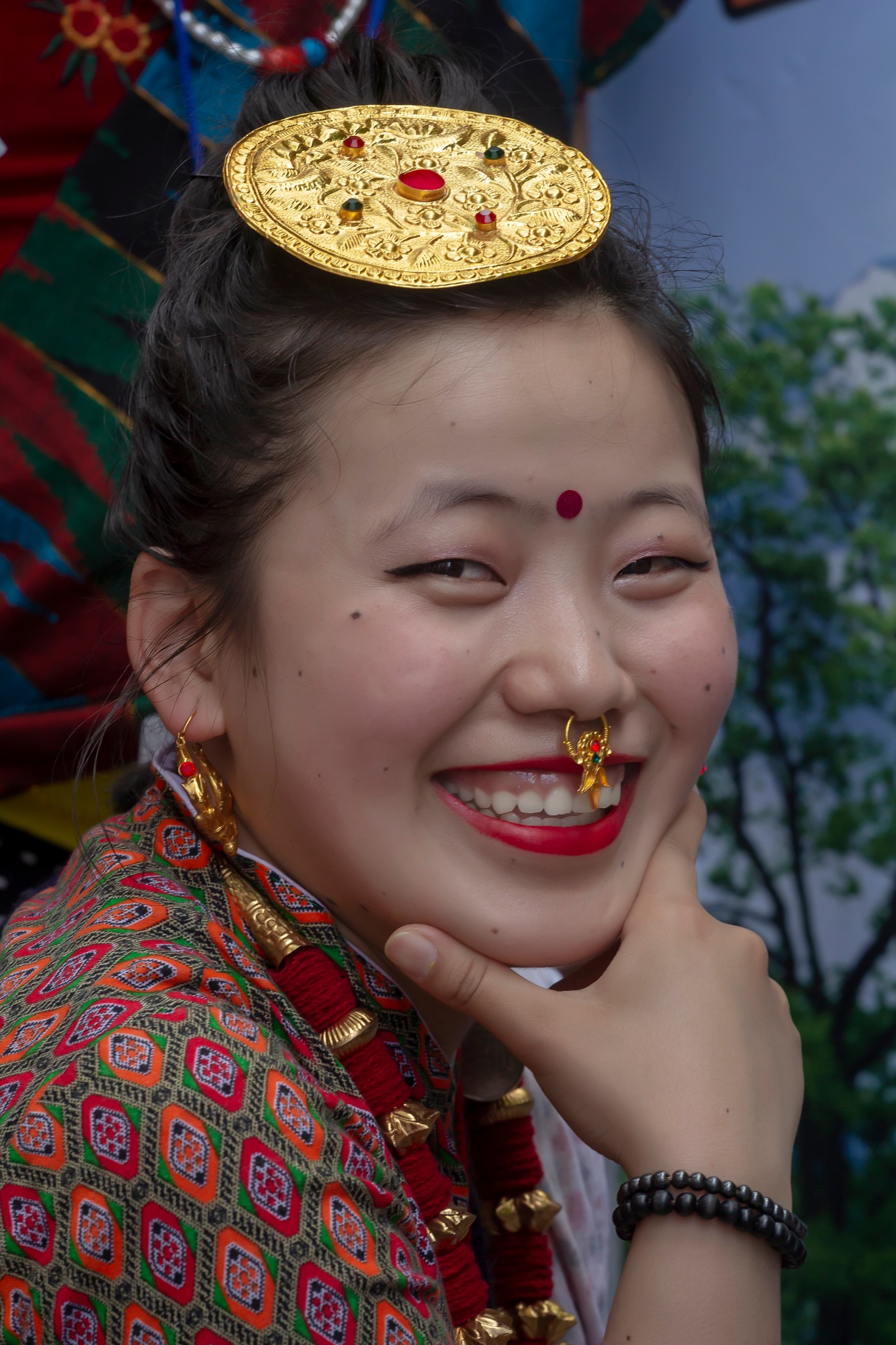Nepal Day NYC 5_20_18 Woman in Traditional Attire by robertullmann