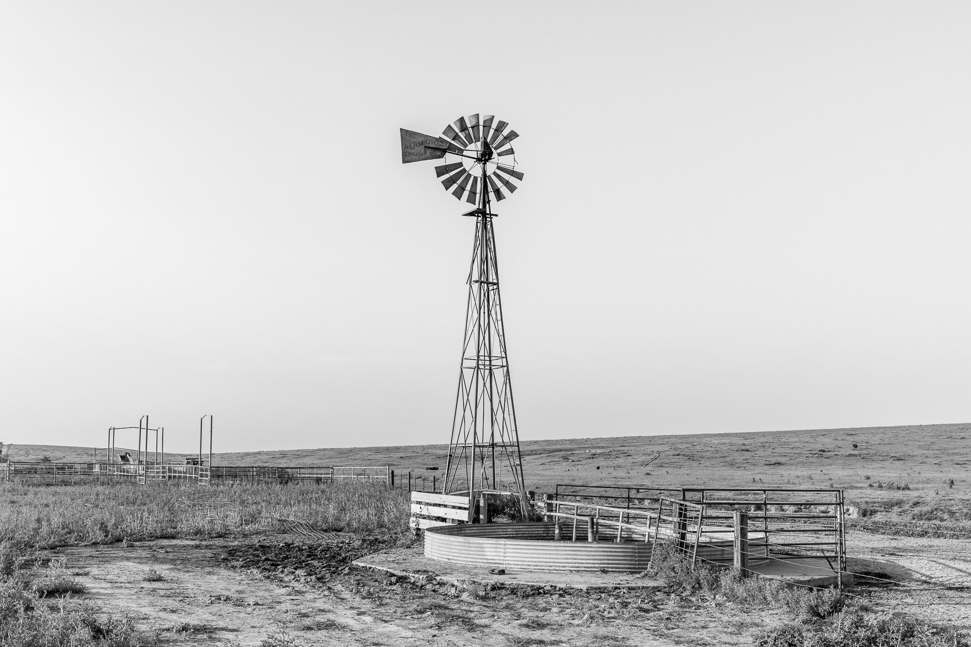 23 Windmill BW by Jim Talbert