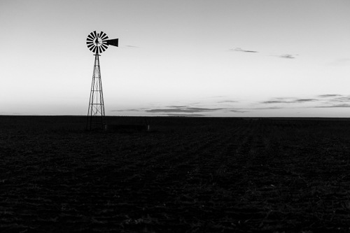 Harkness Sunset B& W by Jim Talbert