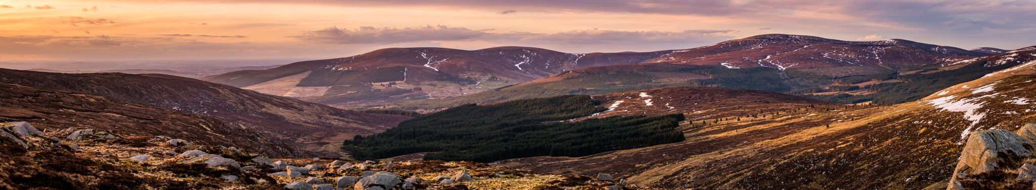 Wicklow Mountains Sunset by Florian Christoph