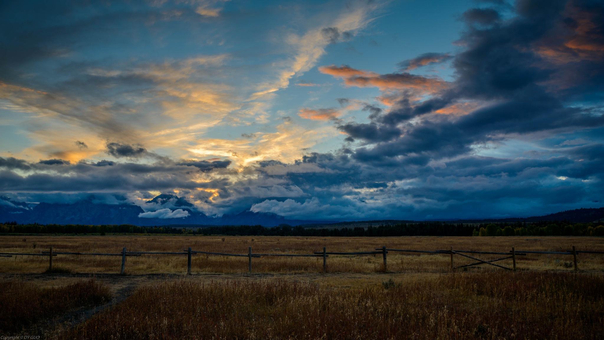 Grand Teton at sunset by David Guo