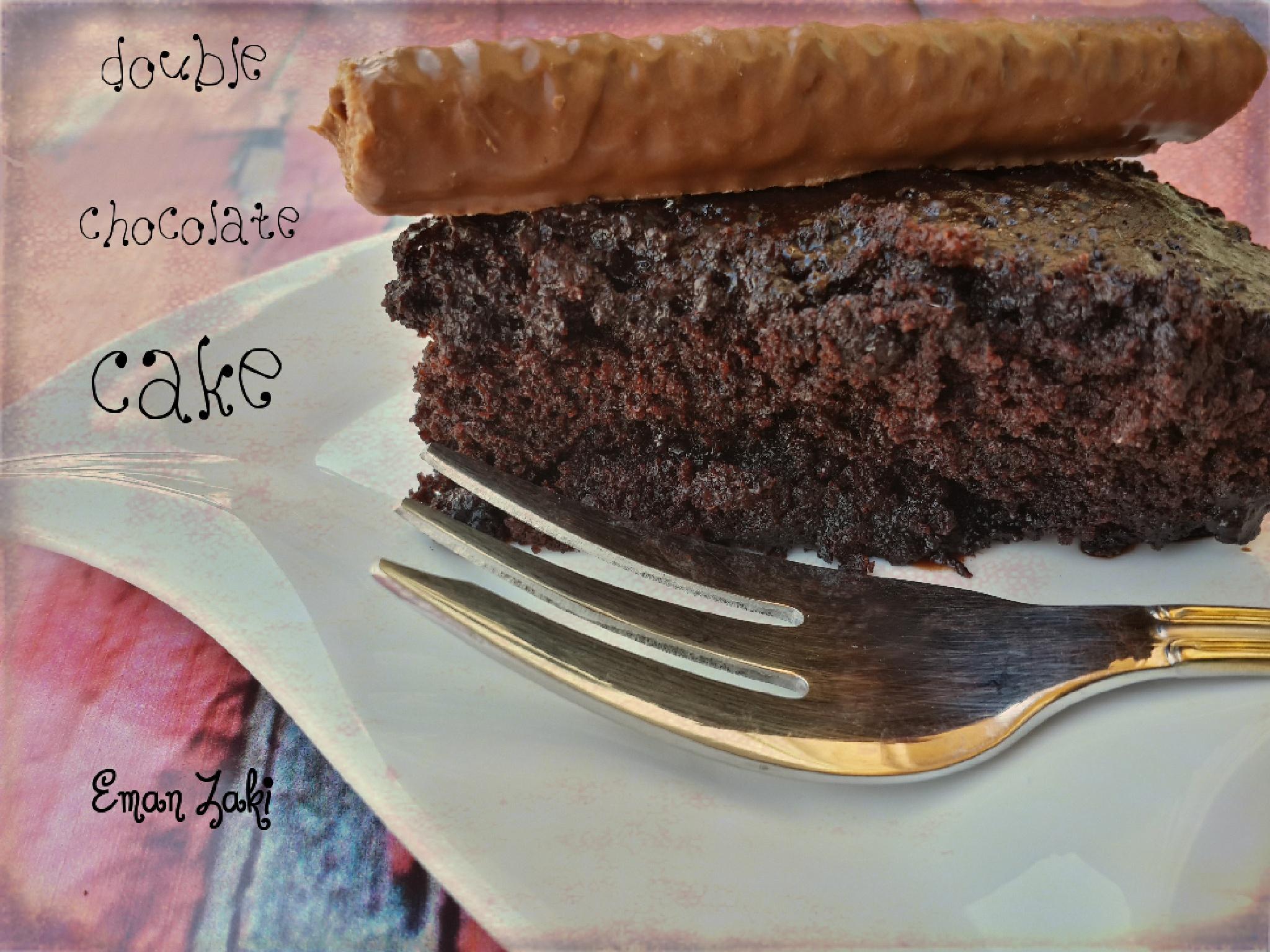 Double chocolate cake by Meme Zaki