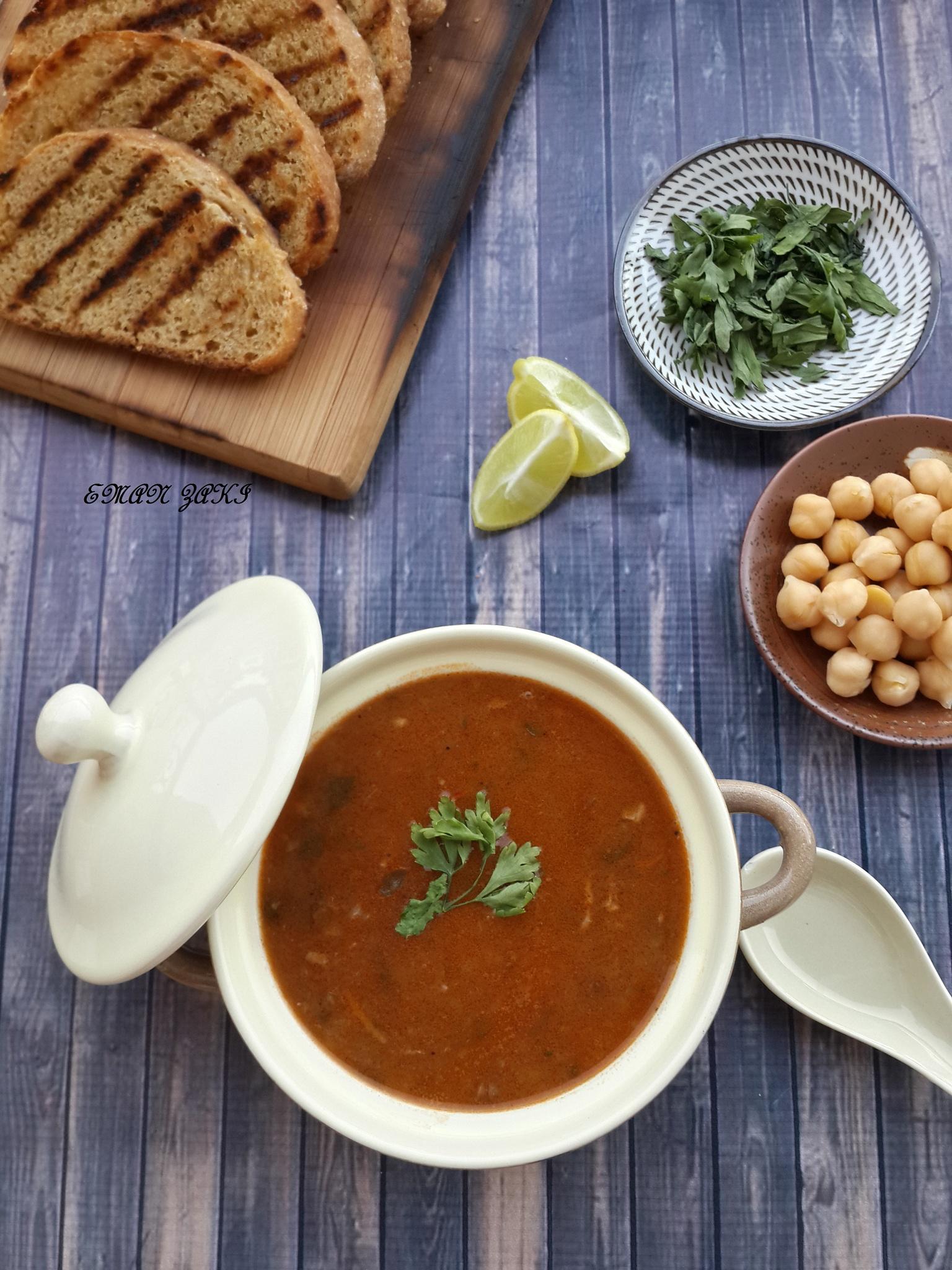 Moroccan harera soup by Meme Zaki