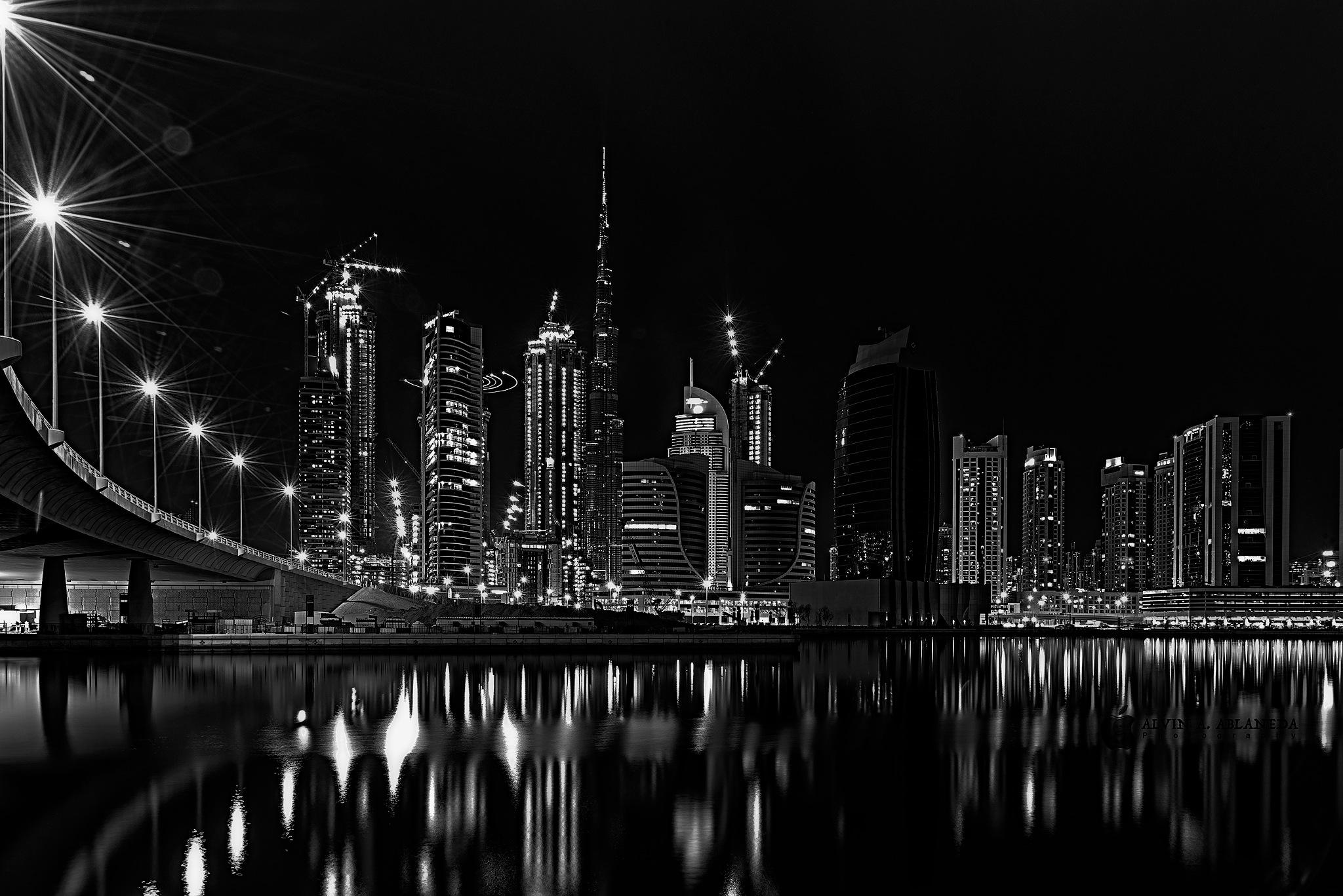 Black & White Downtown Dubai by Alvin A. Ablaneda Photography